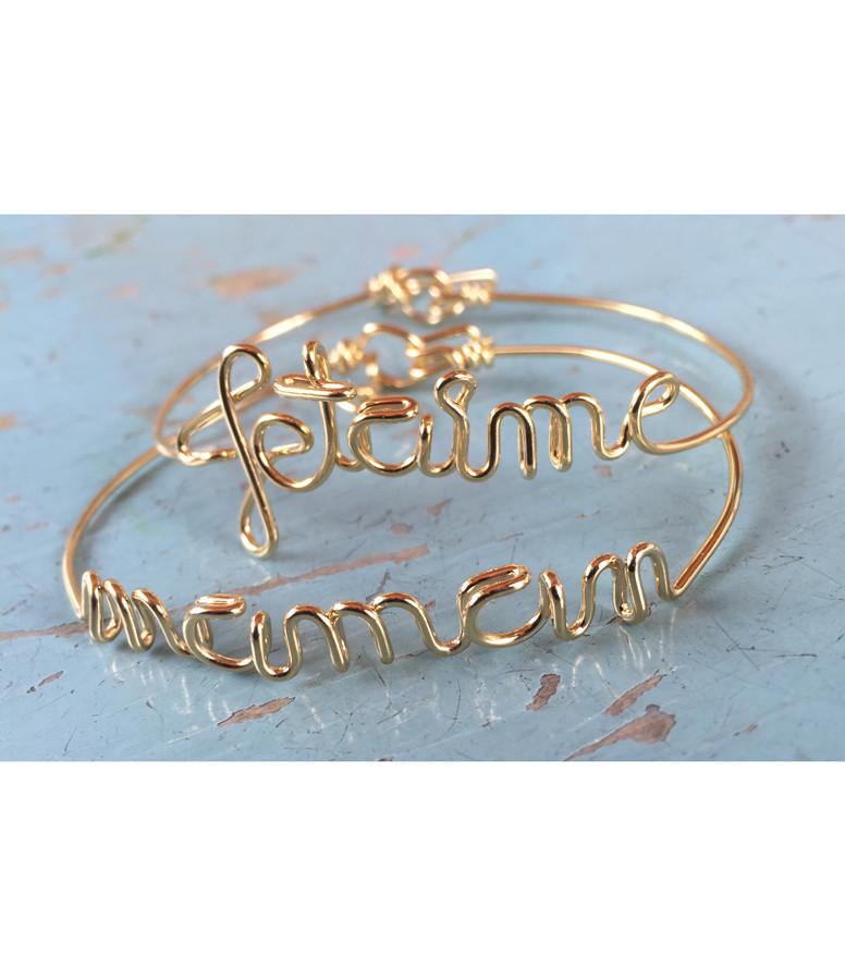 Bracelet Fil Jetaime Argent - ATELIER PAULIN