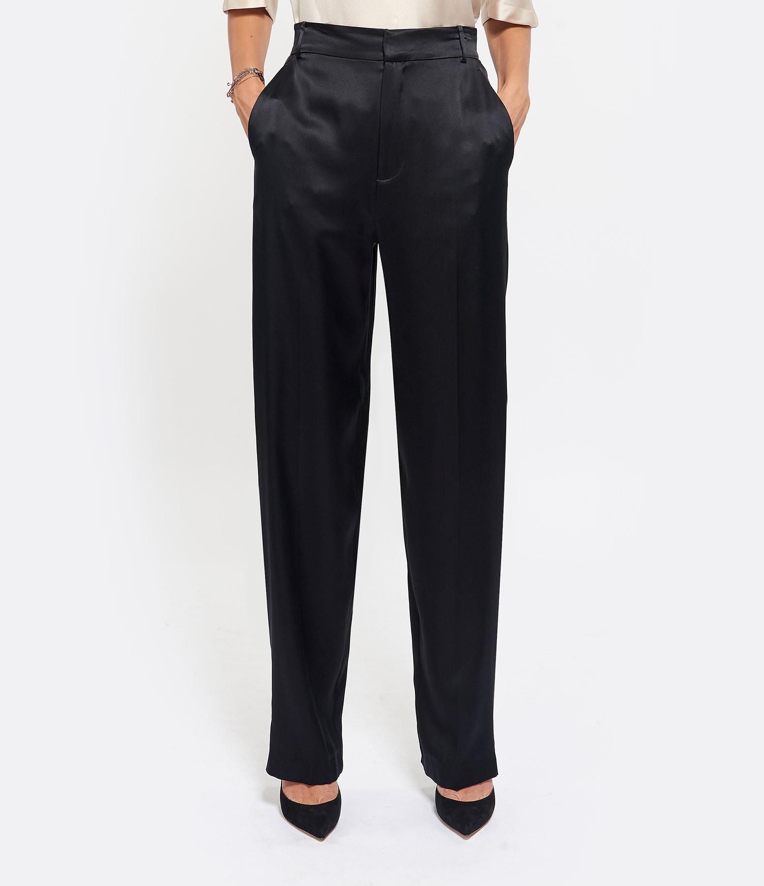 JOSEPH - Pantalon Jack Soie Noir
