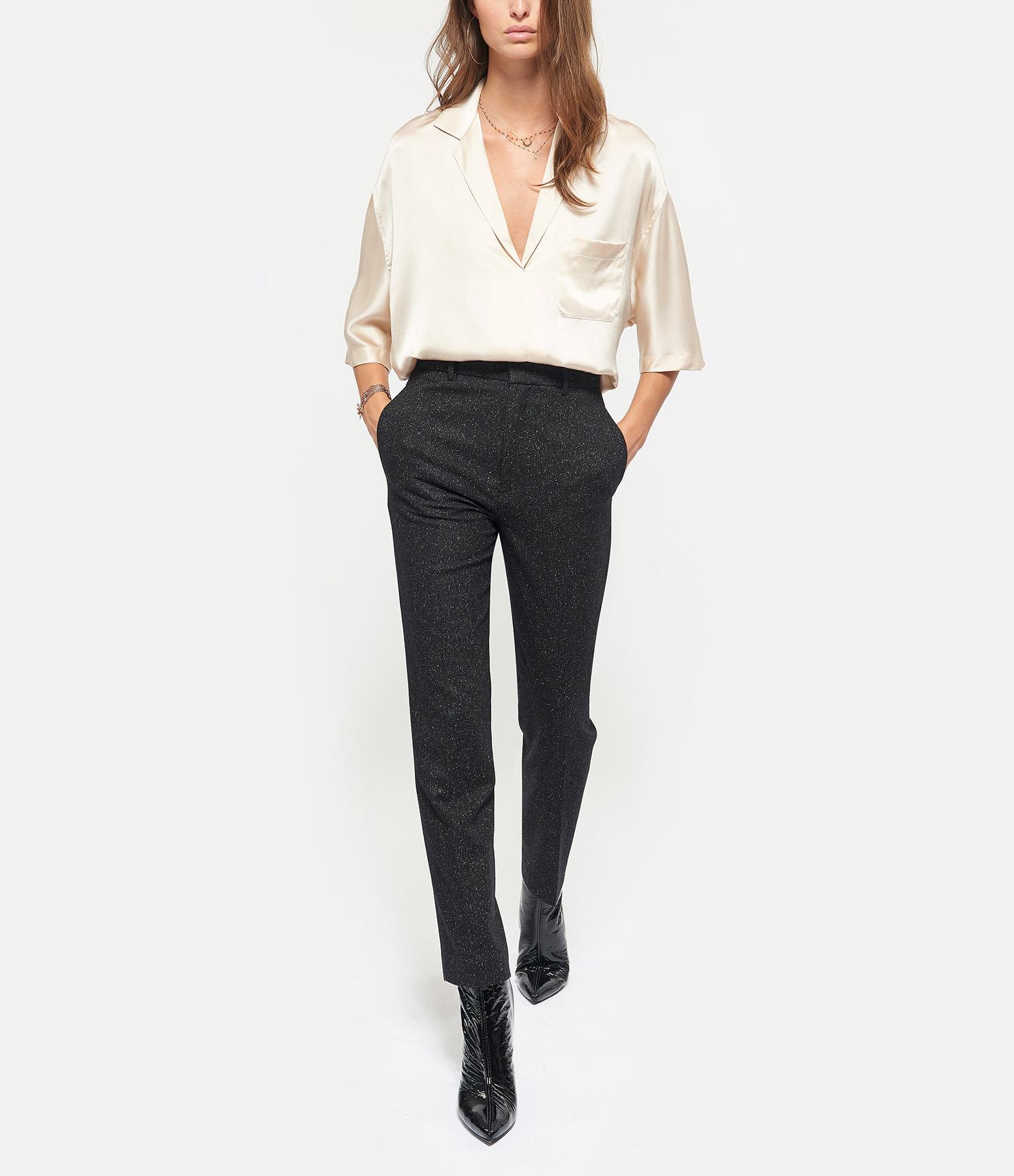 JOSEPH - Pantalon Coman Laine Noir