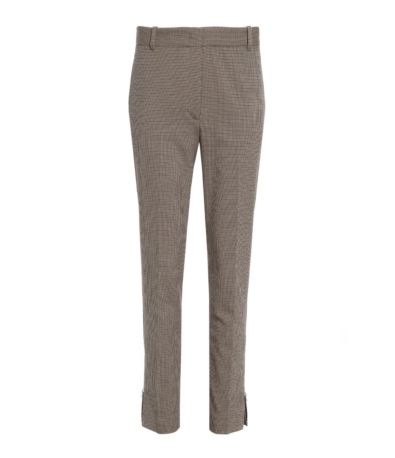 JOSEPH - Pantalon Zoomy Dogtooth Stretch Coton Camel