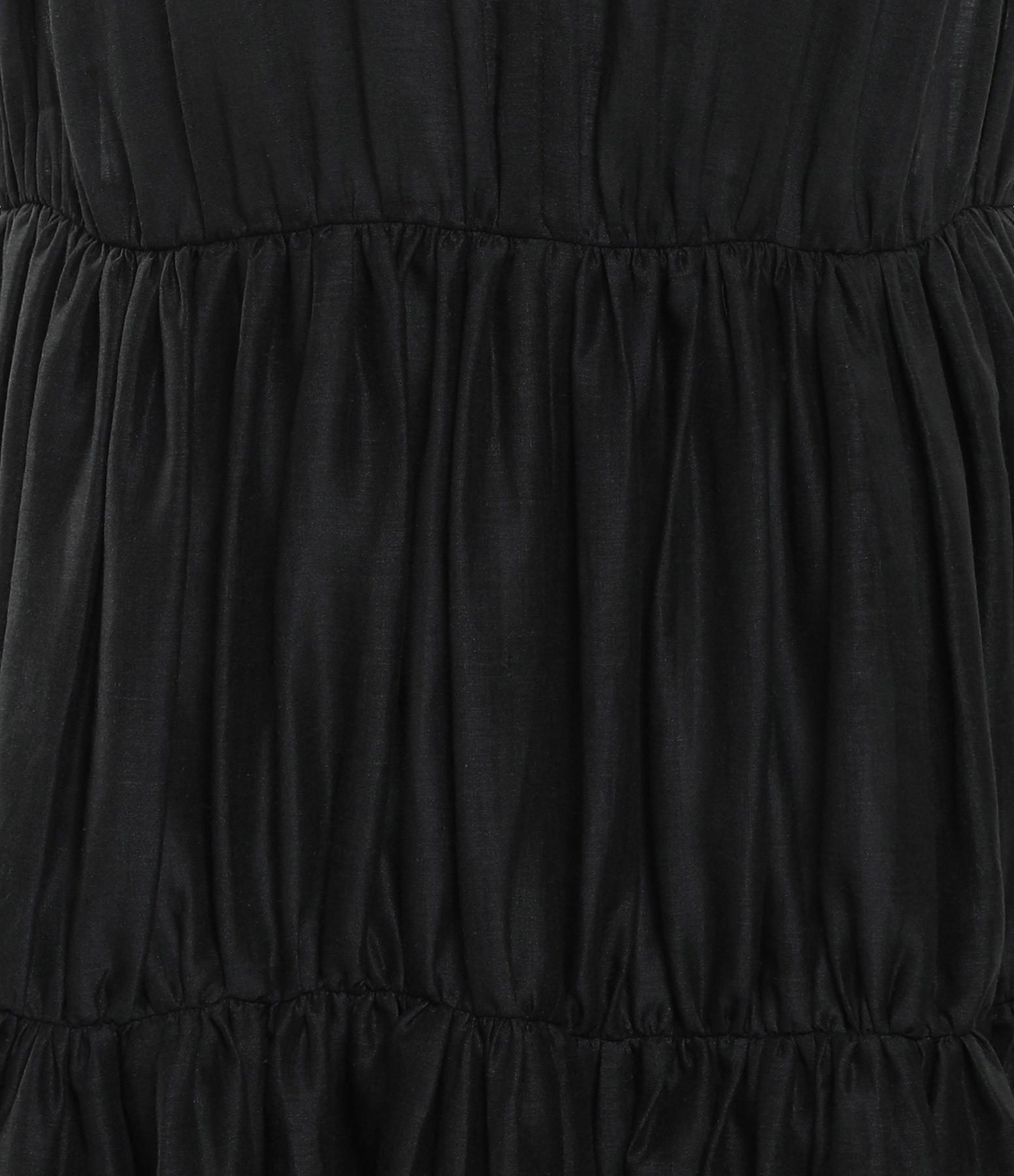 JOSEPH - Robe Lema Voile Plissé Noir