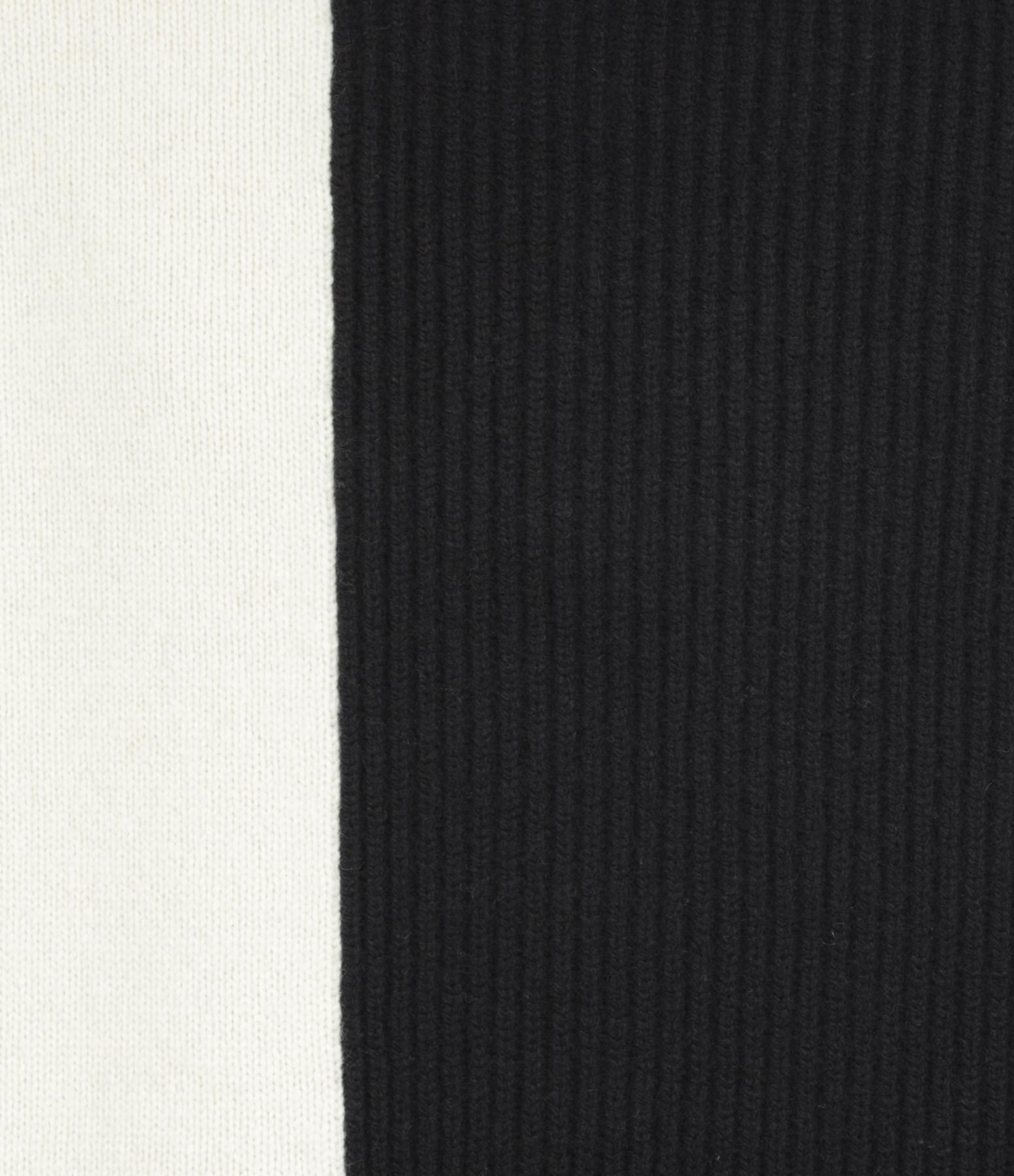 JOSEPH - Pull High Neck Laine Ivoire Noir