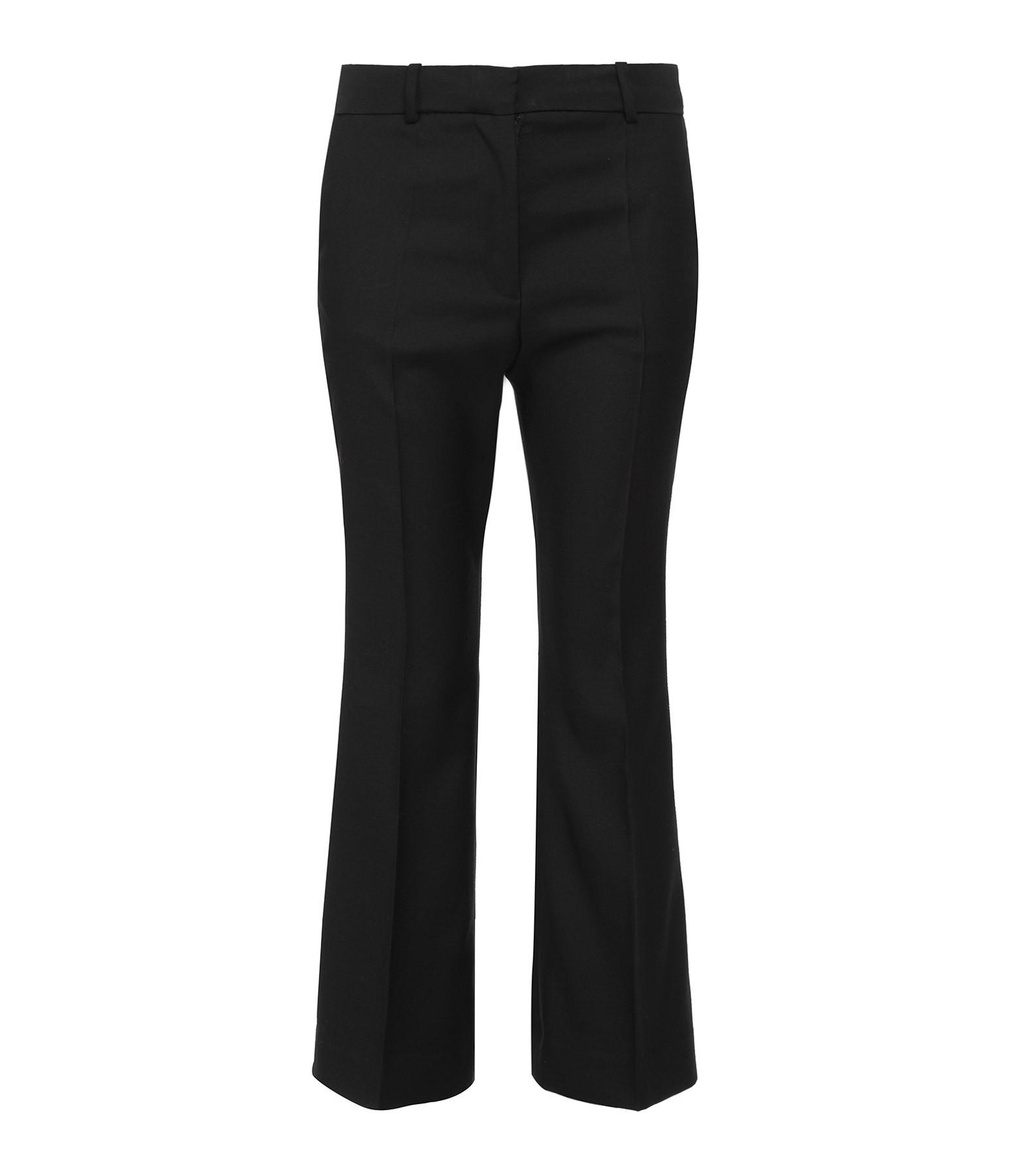JOSEPH - Pantalon Teller Soie Laine Noir