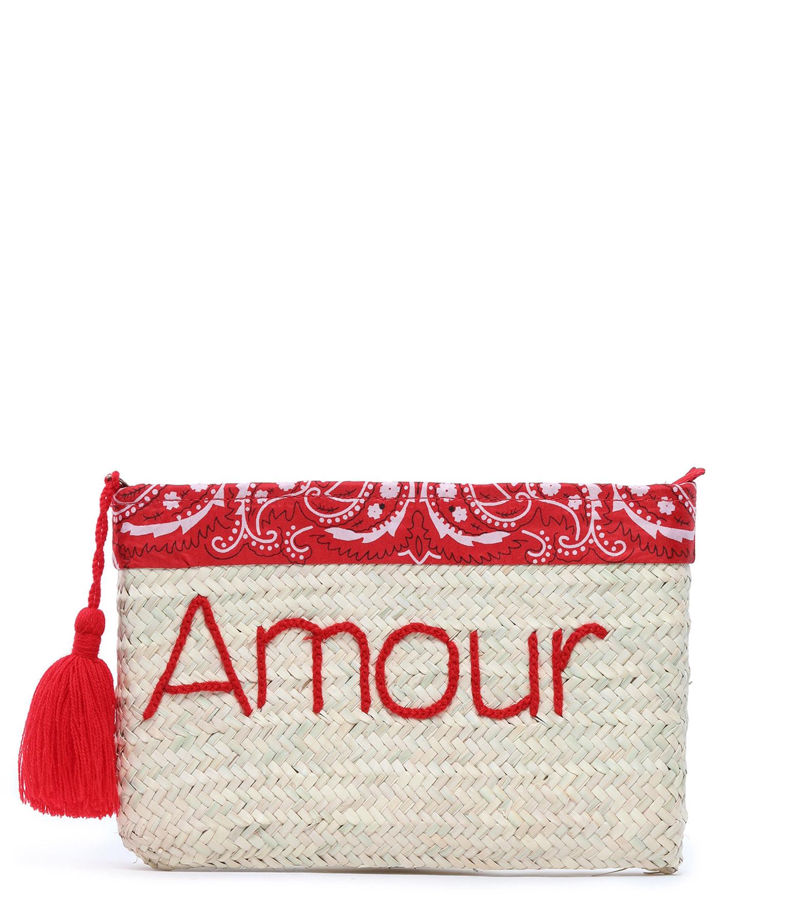 ANATA - Pochette Paille Amour Bandana Rouge