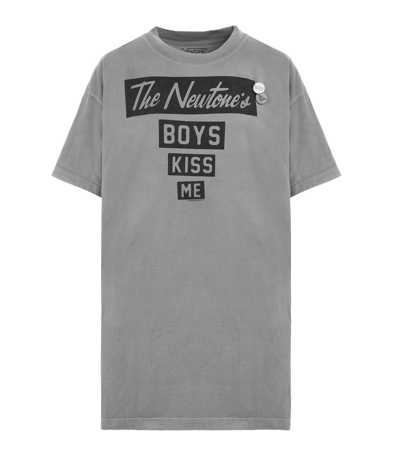 NEWTONE - Robe Kiss Me Coton Gris