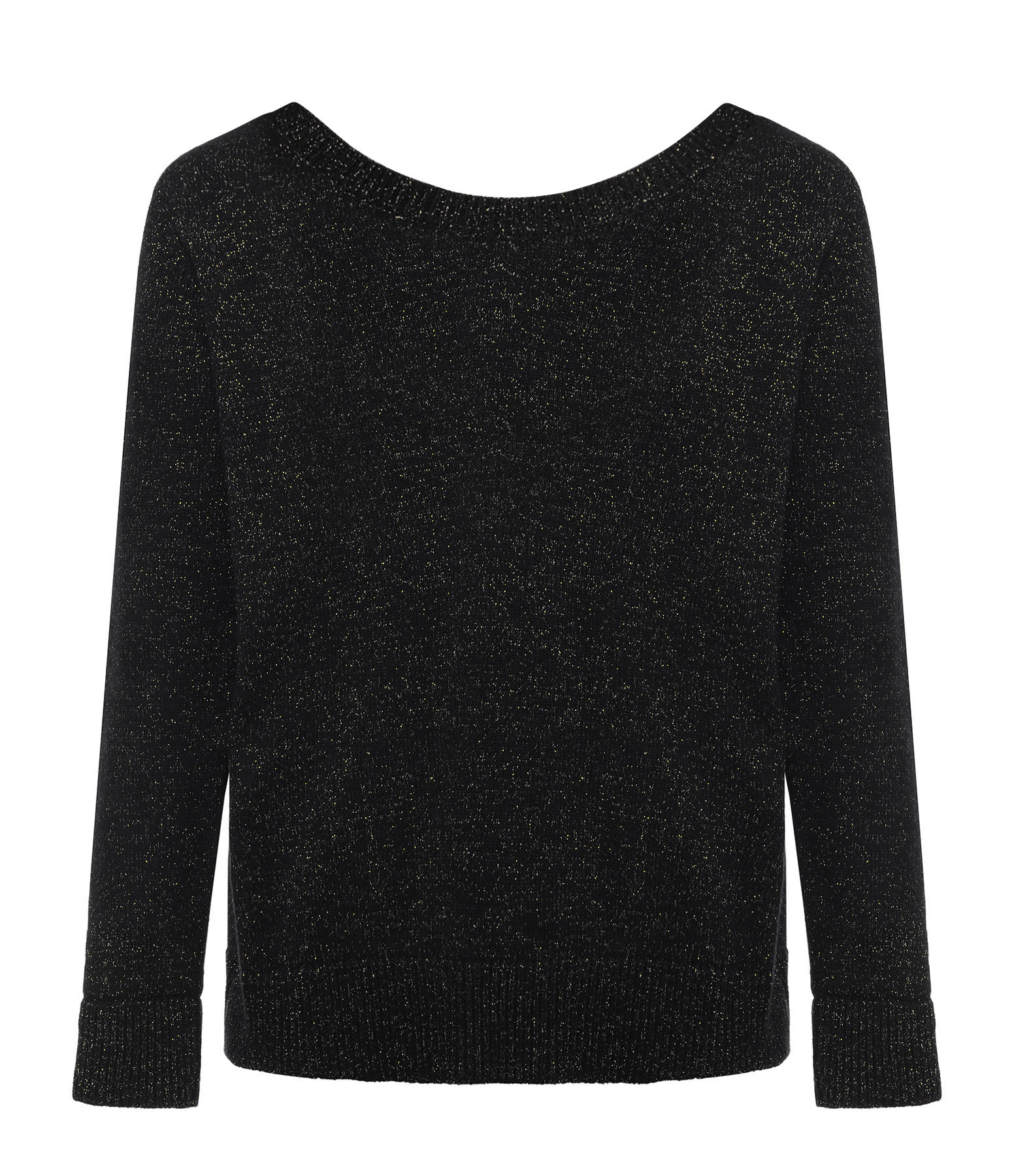 JEANNE VOULAND - Pull Enzo Maille Lurex Réversible Noir Or