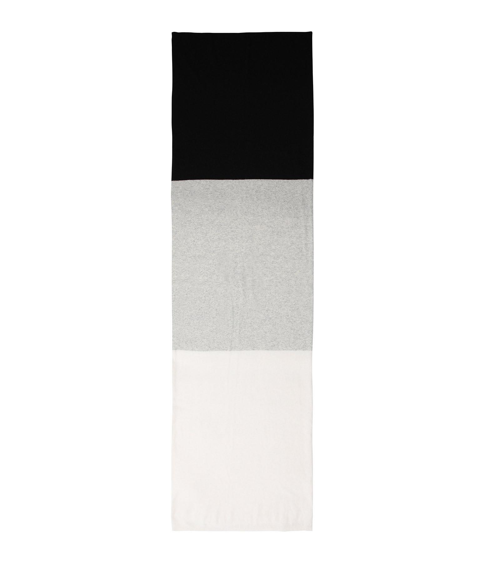 JEANNE VOULAND - Écharpe Edyn Plaid Color Block Noir Ivoire Gris