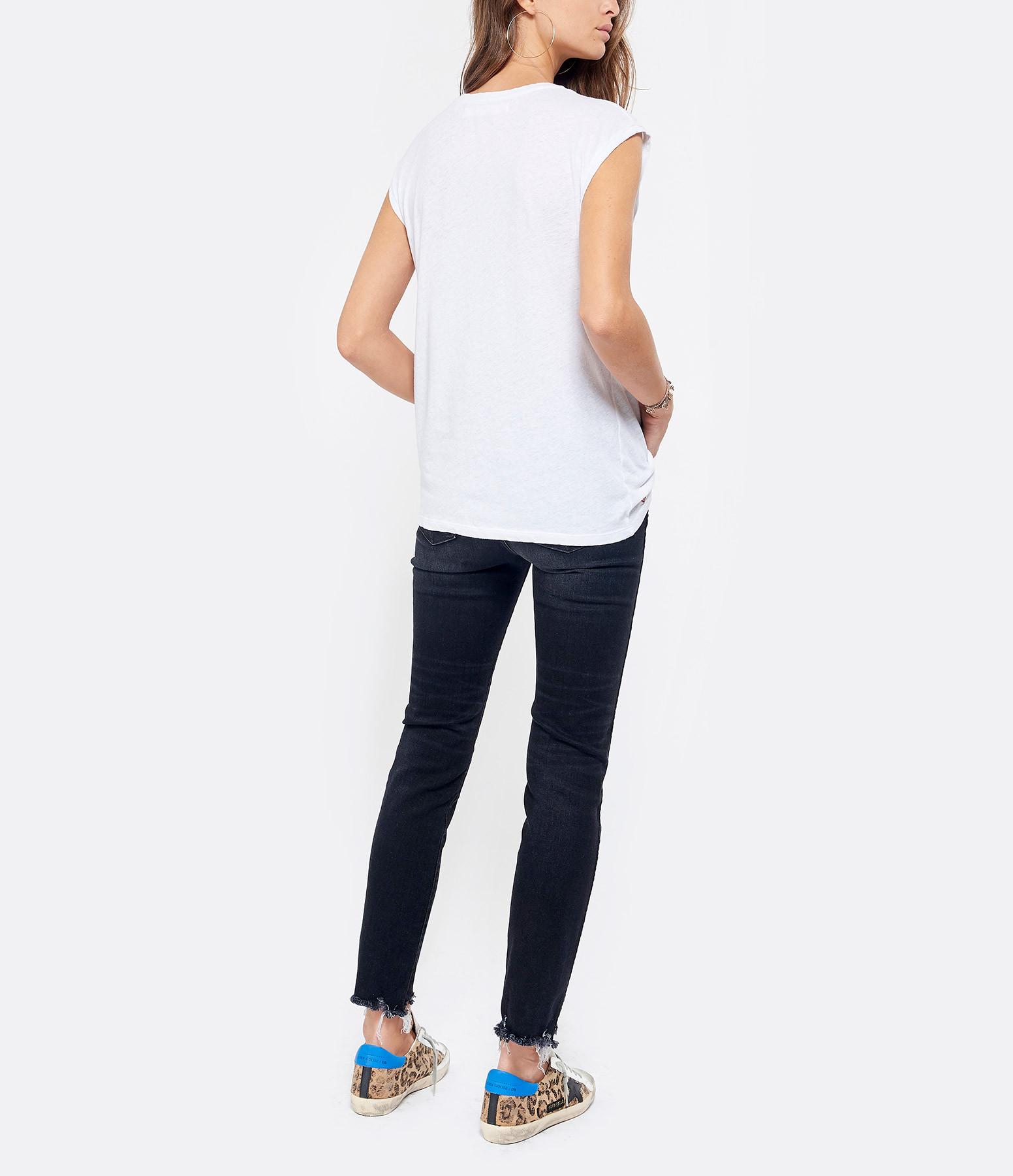 Tee Shirt Hayden Logo Blanc Coton Lin Noir - JUNE 7.2
