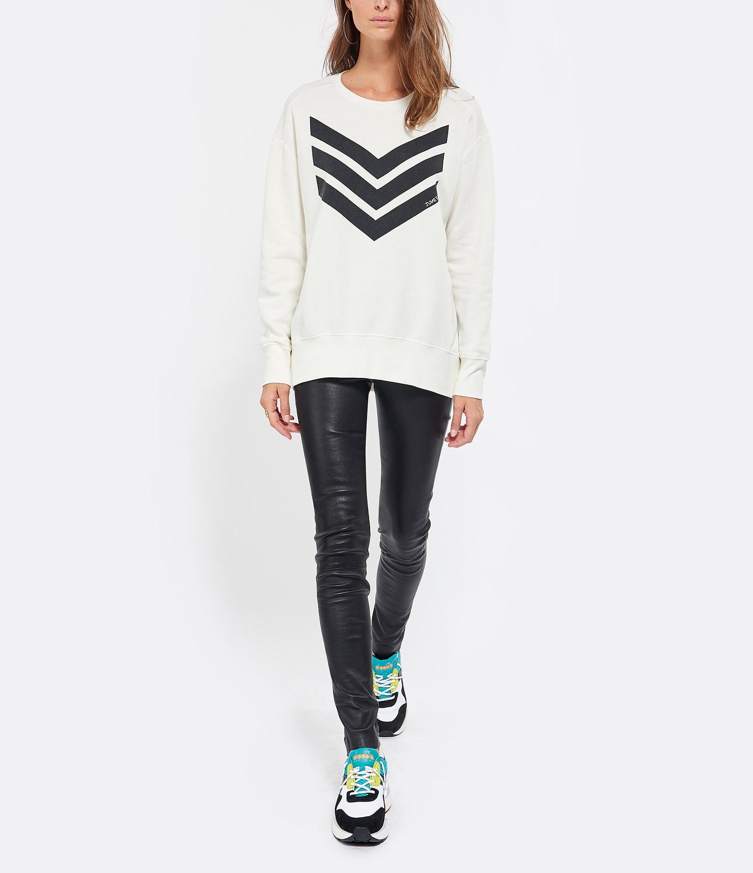 JUNE 7.2 - Sweatshirt Alexa Beige Logo Noir