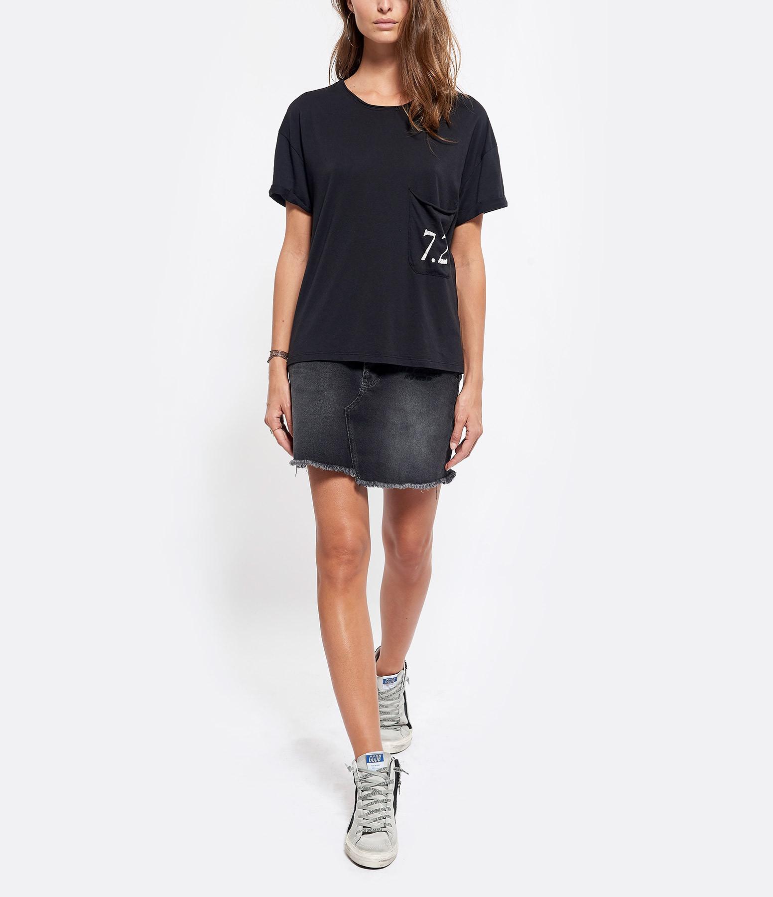 JUNE 7.2 - Tee-shirt Myriam Noir Logo Blanc
