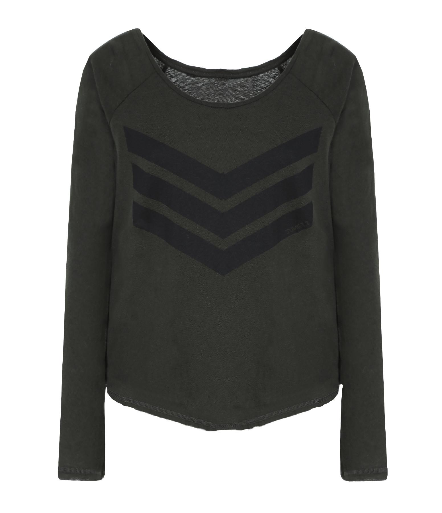 JUNE 7.2 - Tee-shirt Yann Coton Lin Kaki Logo Noir