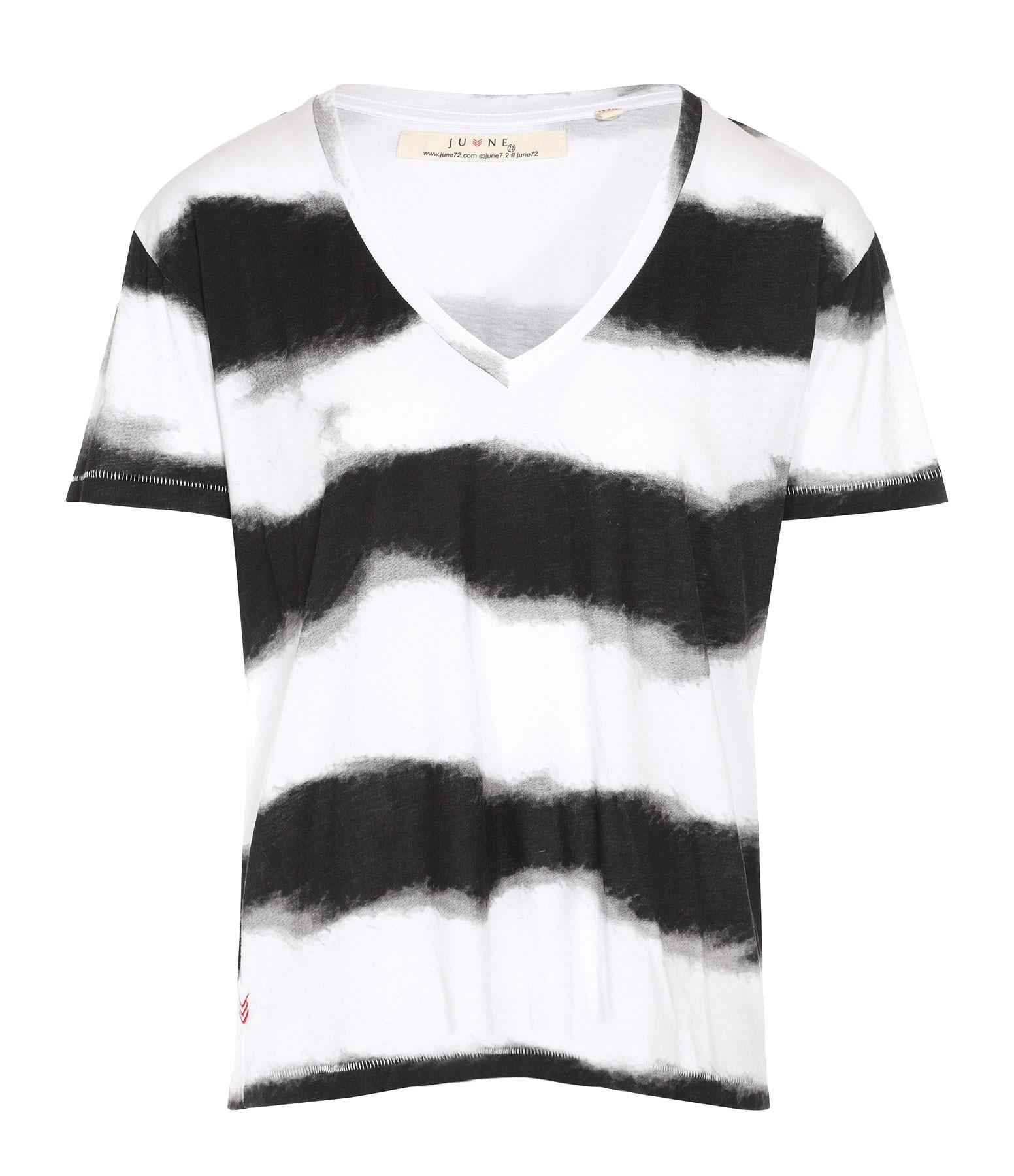 JUNE 7.2 - Tee-shirt Nolan Rayures Blanc Noir