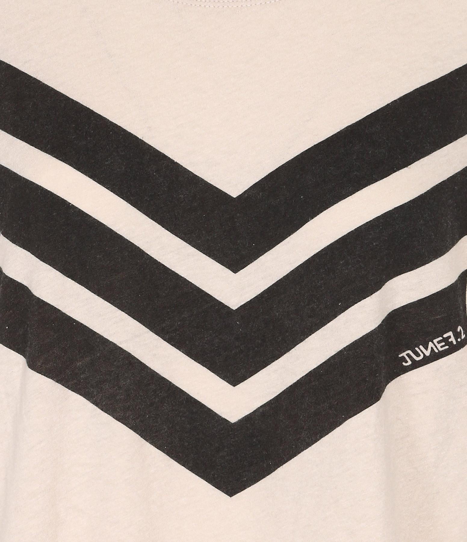 JUNE 7.2 - Tee-shirt Uma Coton Lin Sable Logo Noir