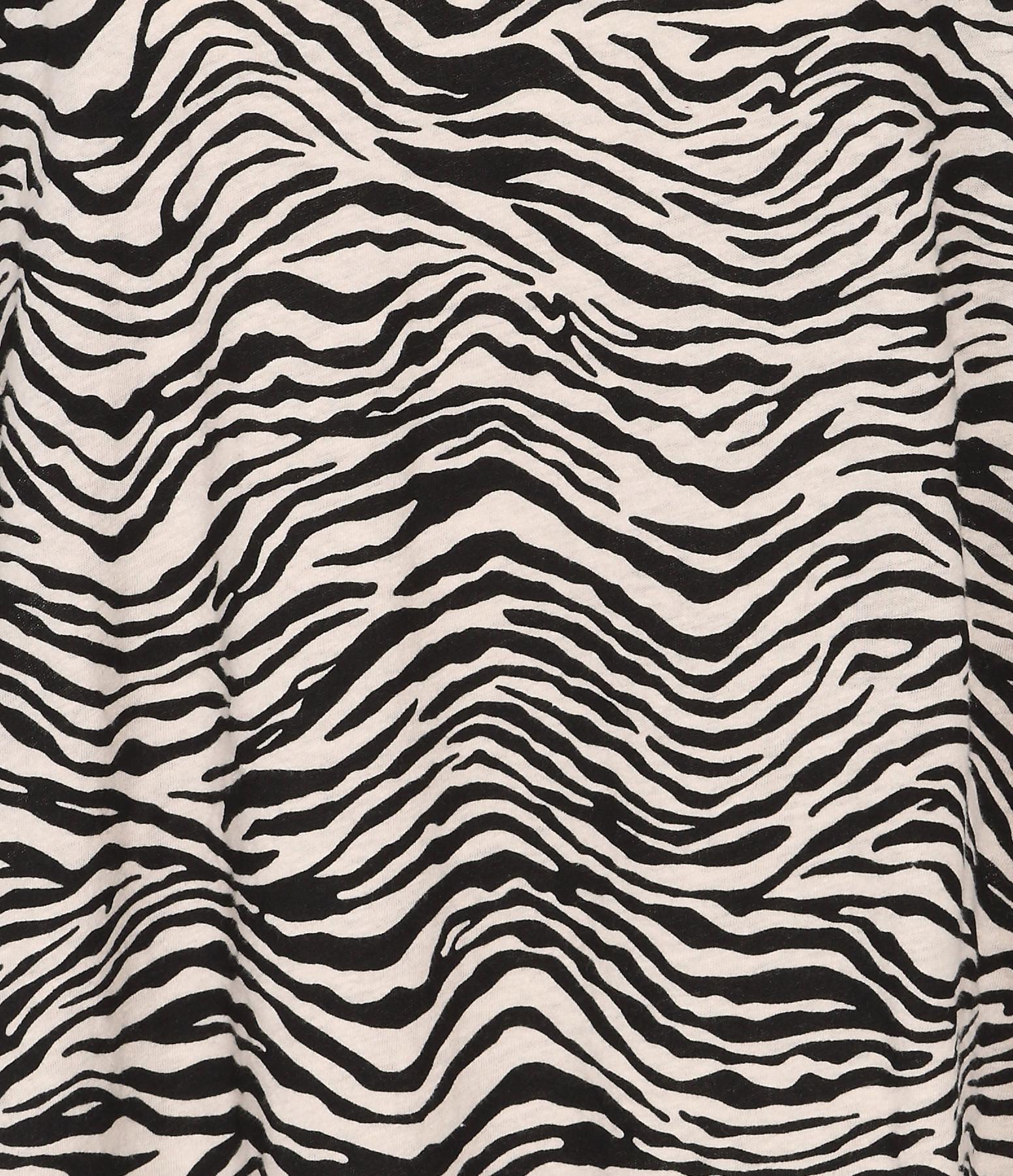 JUNE 7.2 - Tee-shirt Yann Zebra Sable Noir