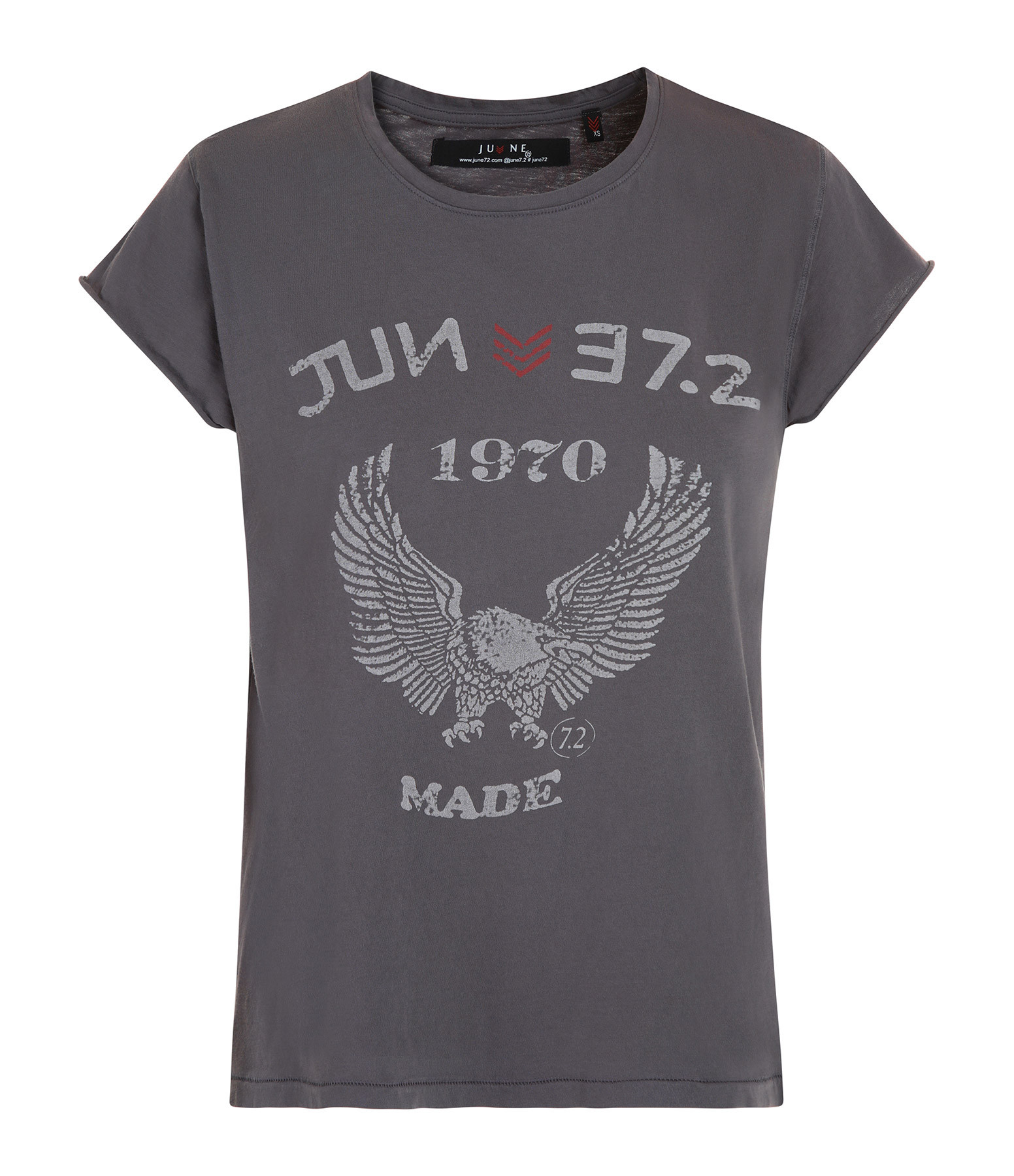 JUNE 7.2 - Tee-shirt Eagle Coton Charbon