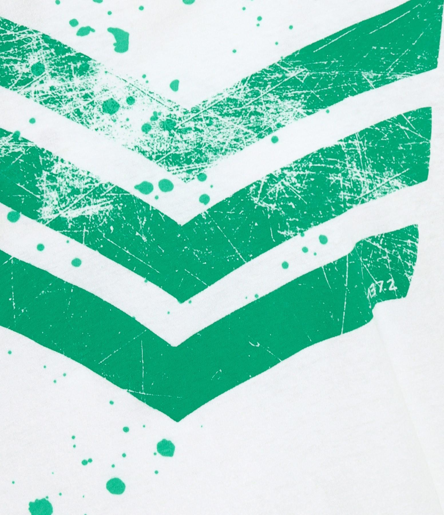 JUNE 7.2 - Débardeur Hayden Logo Splash Blanc Vert