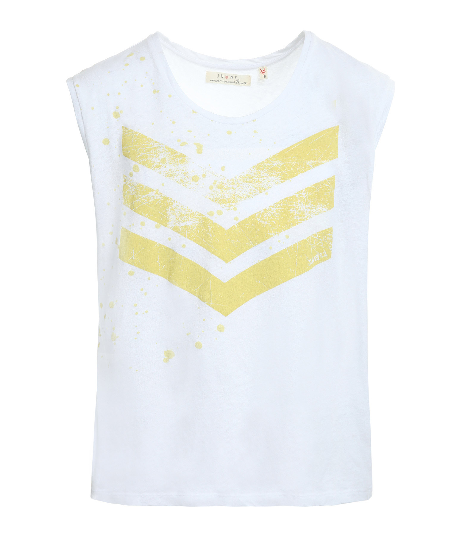 JUNE 7.2 - Tee-shirt Hayden Logo Splash Blanc Jaune