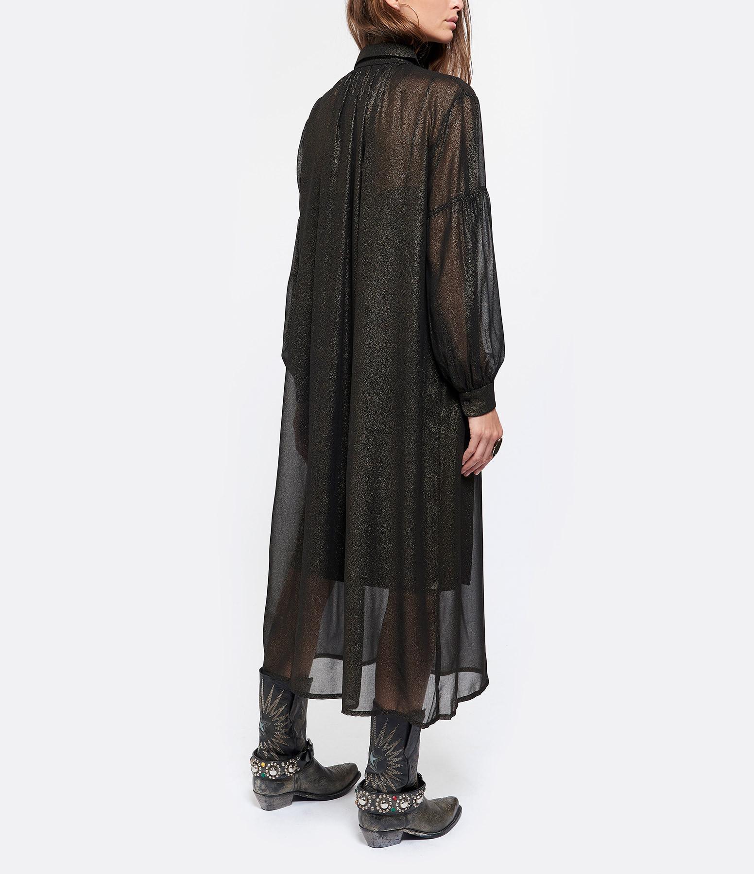 JEANNE VOULAND - Robe Chemise Anna Paillettes Doré