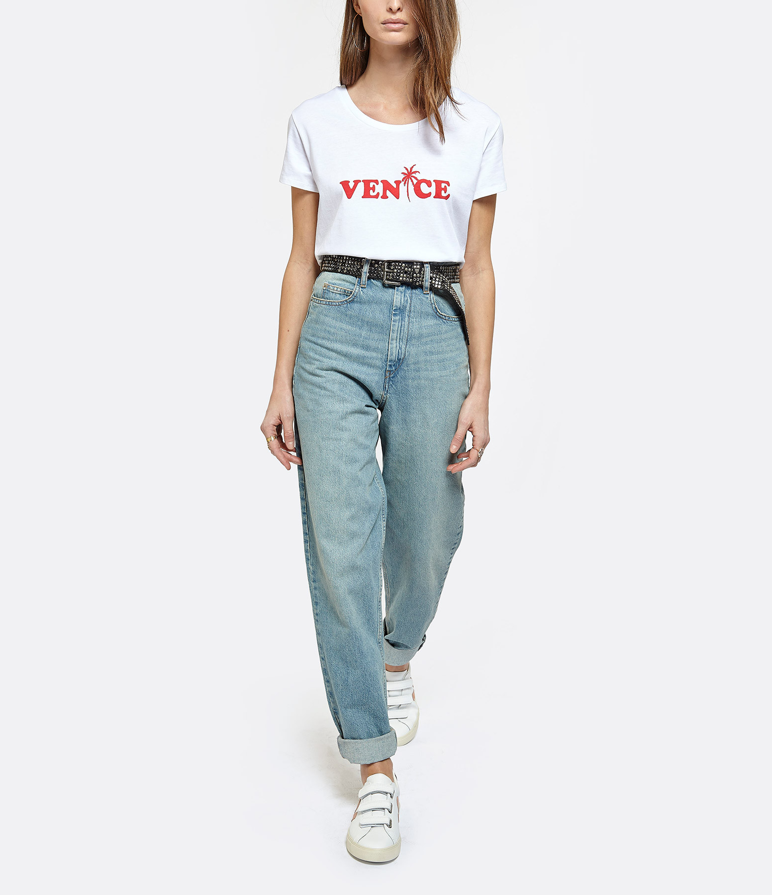 JEANNE VOULAND - Tee-Shirt Devon Venice Blanc