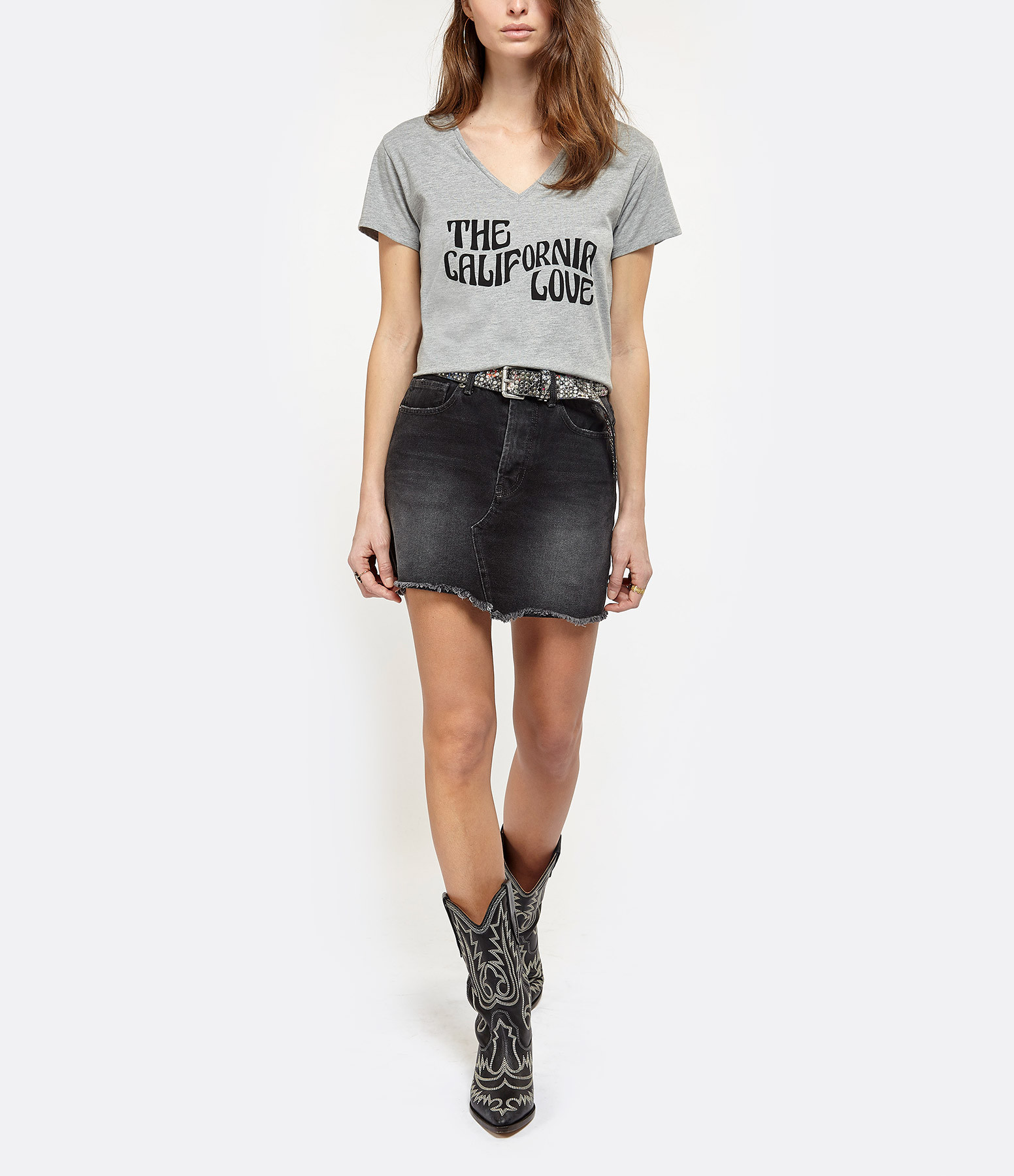 JEANNE VOULAND - Tee-Shirt Dohan California Love Gris