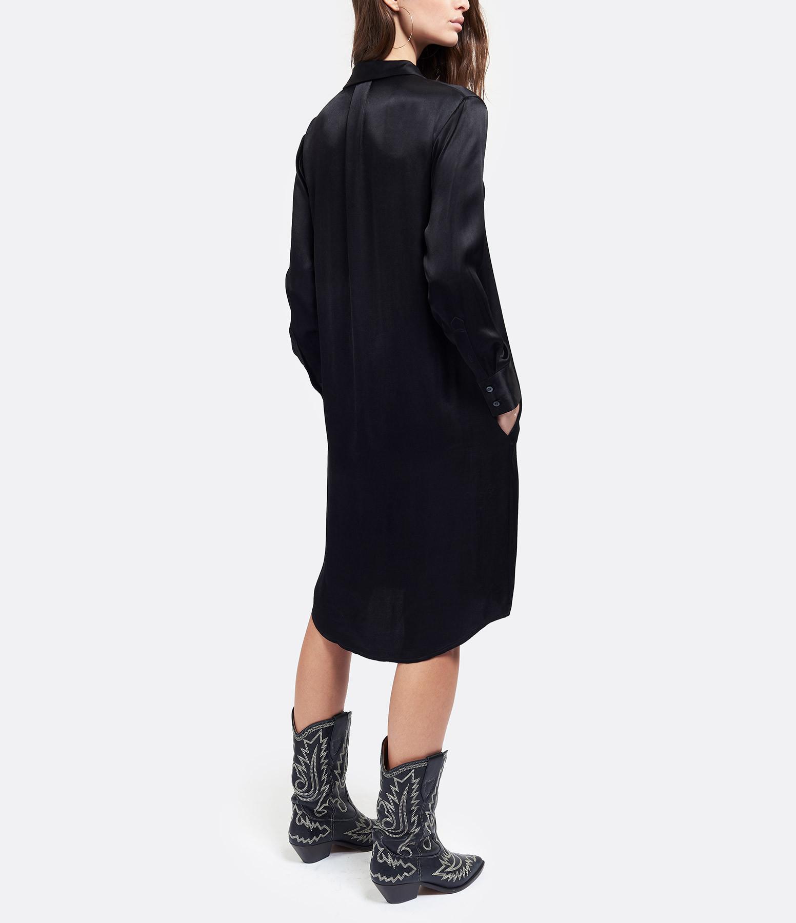JEANNE VOULAND - Robe Chemise Cass Satin Noir