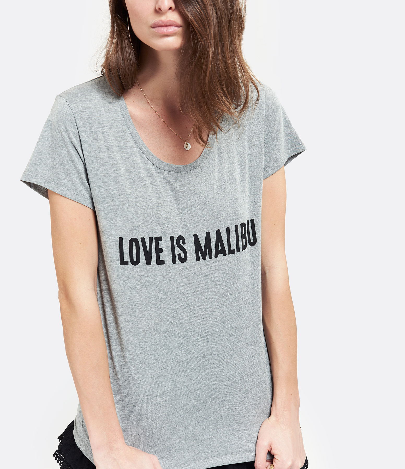 JEANNE VOULAND - Tee-Shirt Devy Love Is Malibu Gris