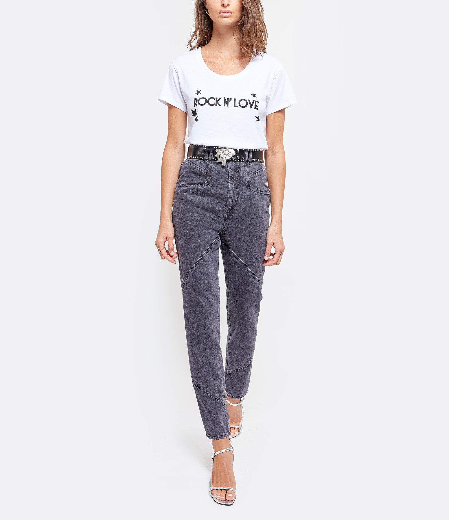 JEANNE VOULAND - Tee-shirt Eder Rock n' Love Coton Blanc