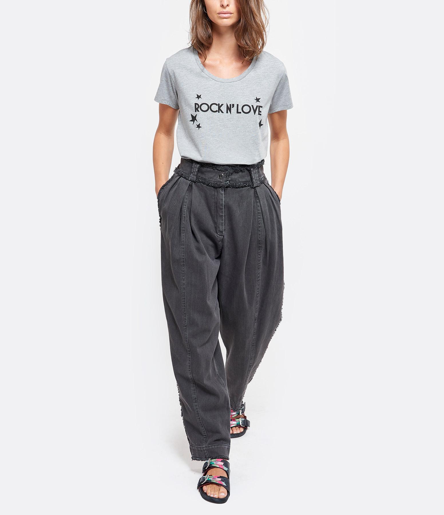 JEANNE VOULAND - Tee-shirt Eder Rock n' Love Coton Gris