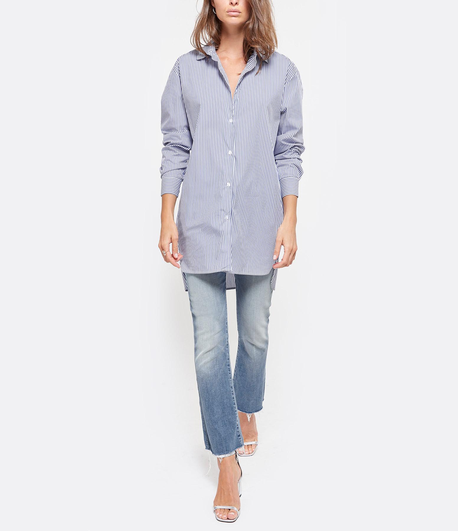 JEANNE VOULAND - Chemise Loose Dara Rayée Bleu Blanc