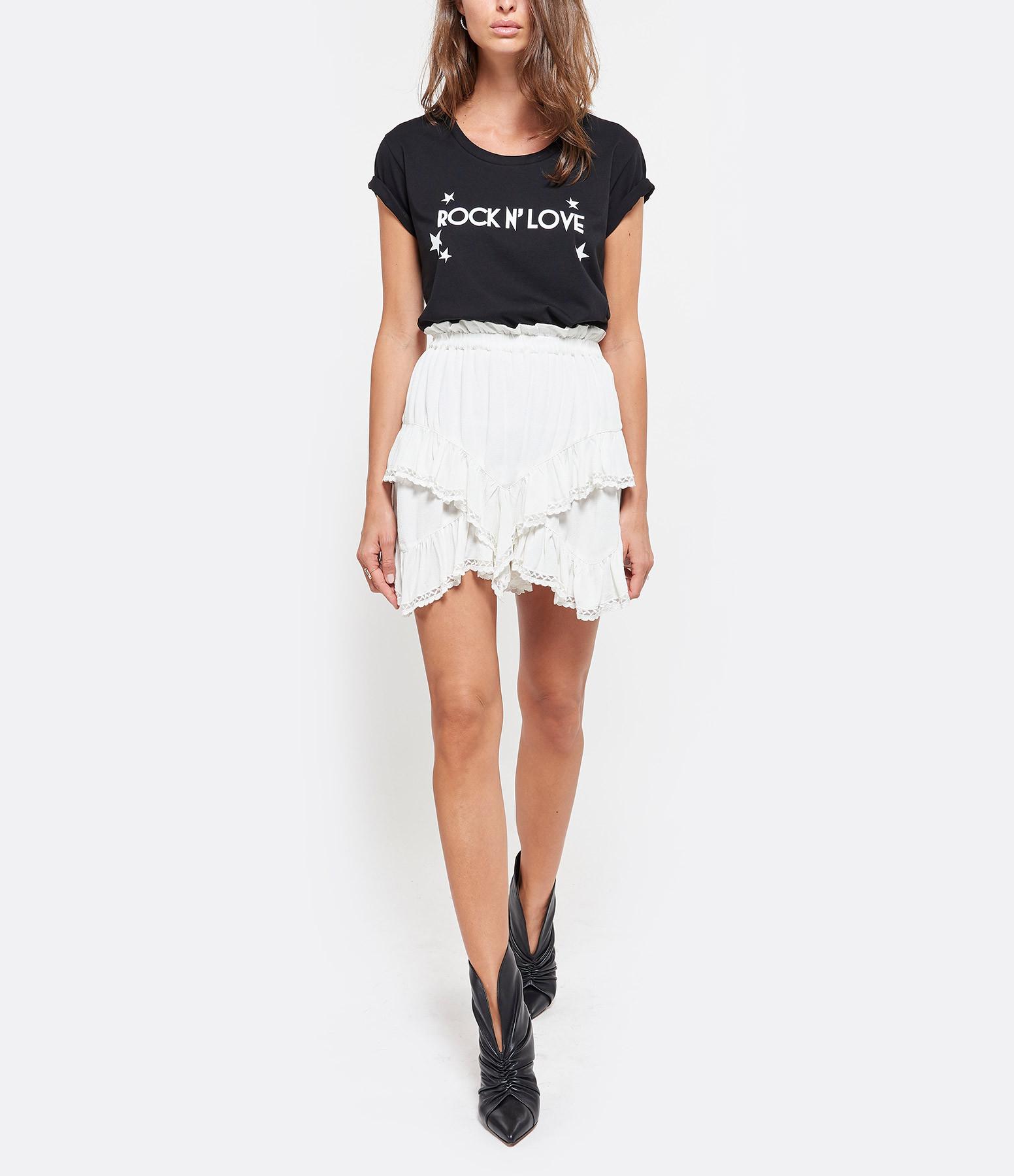 JEANNE VOULAND - Tee-shirt Eder Rock n' Love Coton Noir