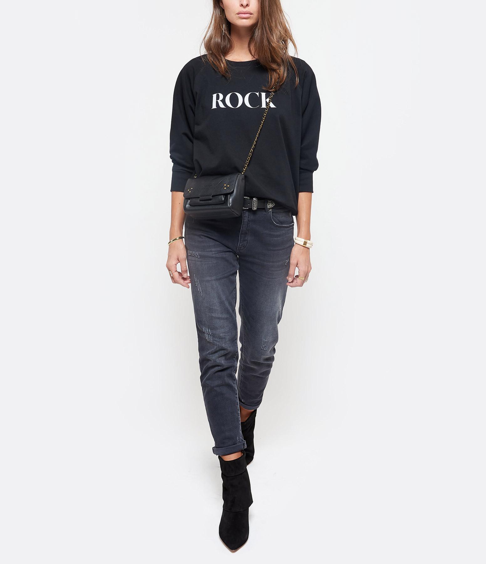 JEANNE VOULAND - Sweatshirt Celo Rock Love Coton Noir