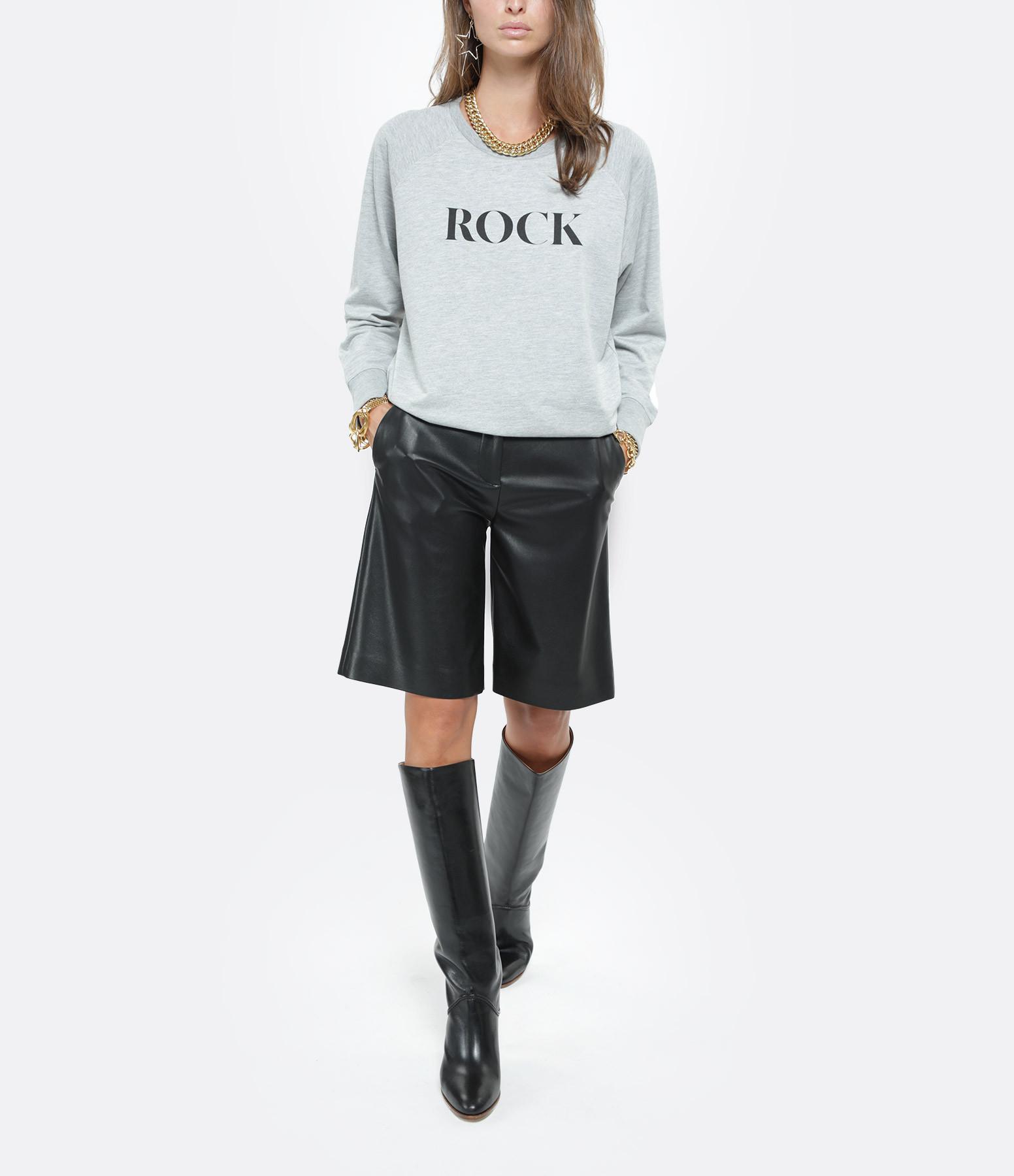 JEANNE VOULAND - Sweatshirt Celo Rock Love Gris
