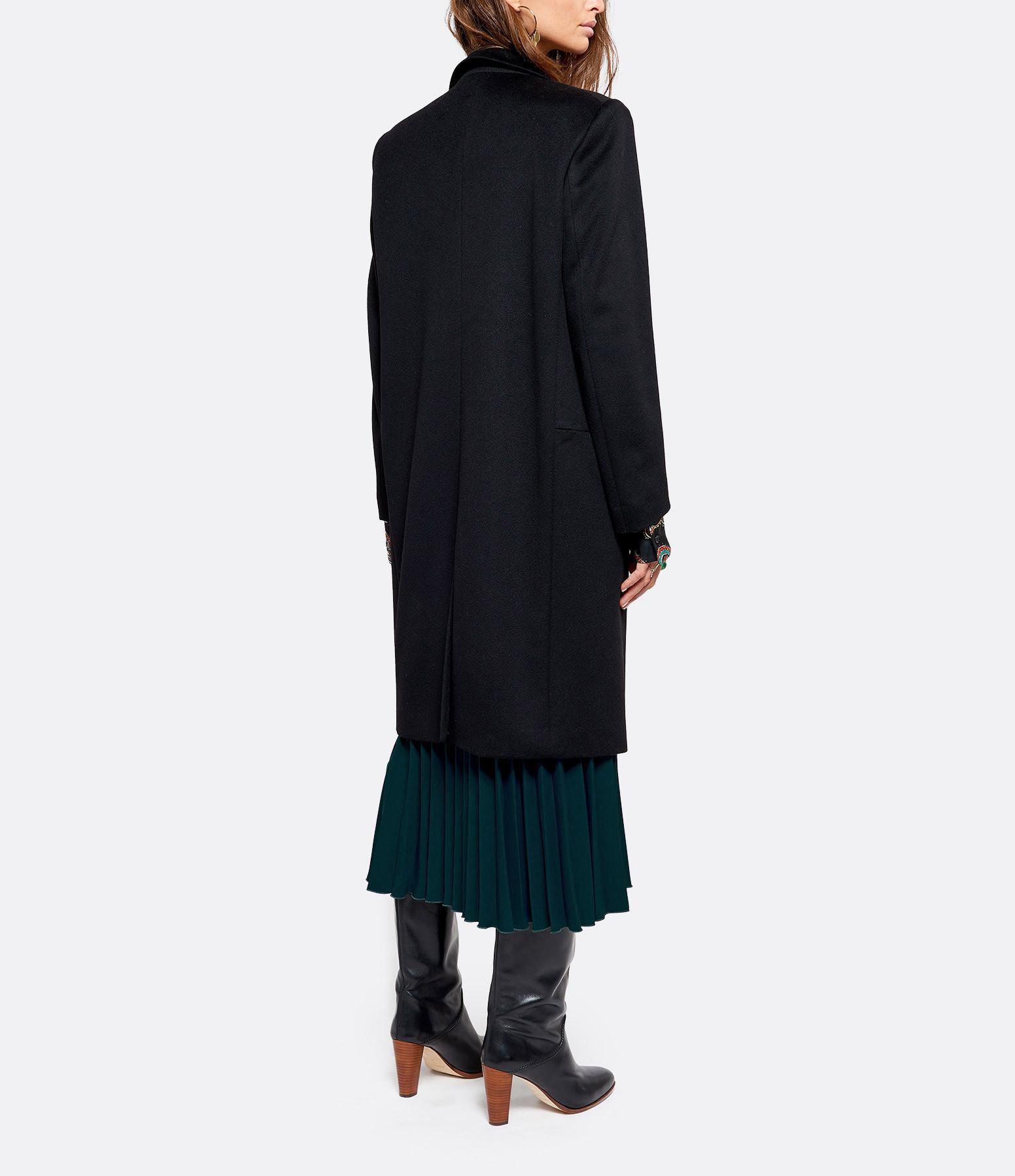 JEANNE VOULAND - Manteau Eres Laine Cachemire Noir