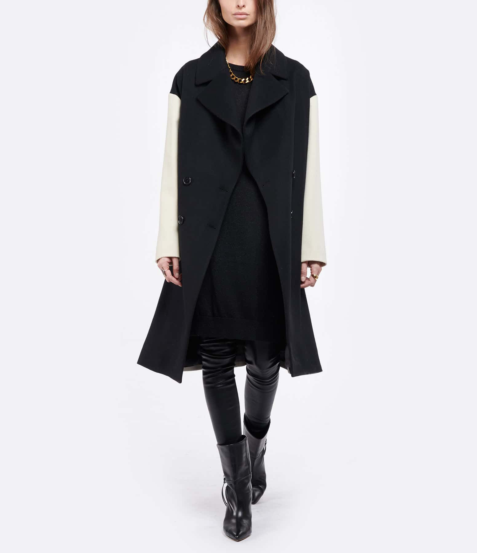 JEANNE VOULAND - Robe Pull Cana Lurex Noir