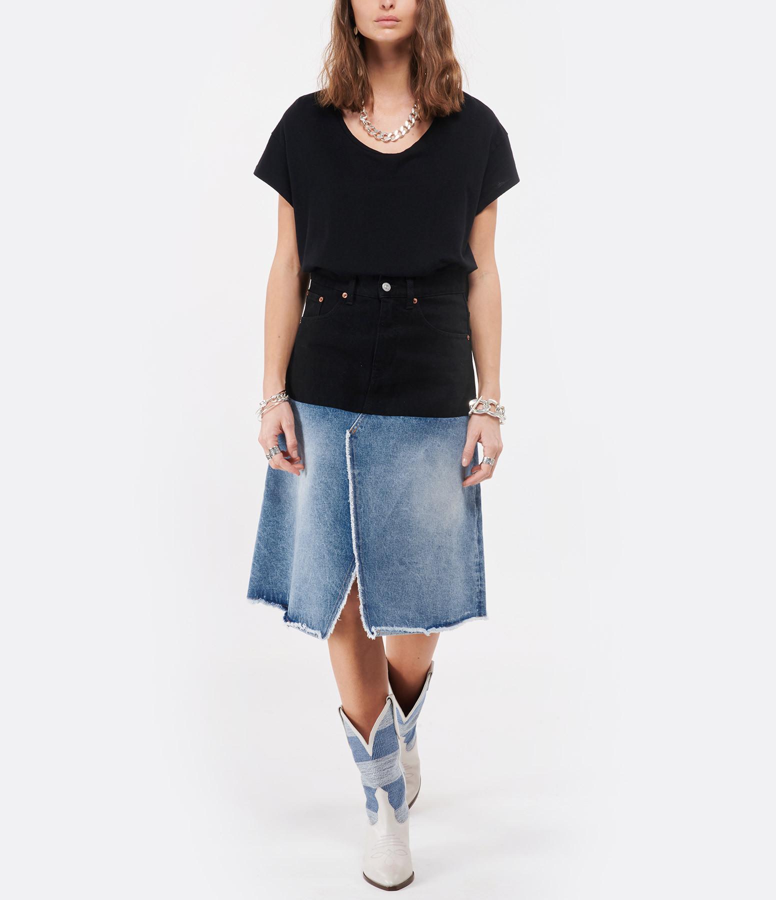 JEANNE VOULAND - Tee-shirt Bach Coton Lin Noir