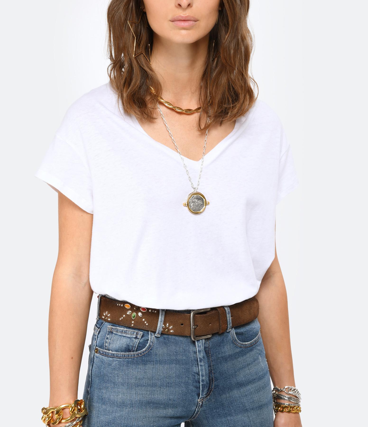 JEANNE VOULAND - Tee-shirt Bacha Coton Lin Blanc