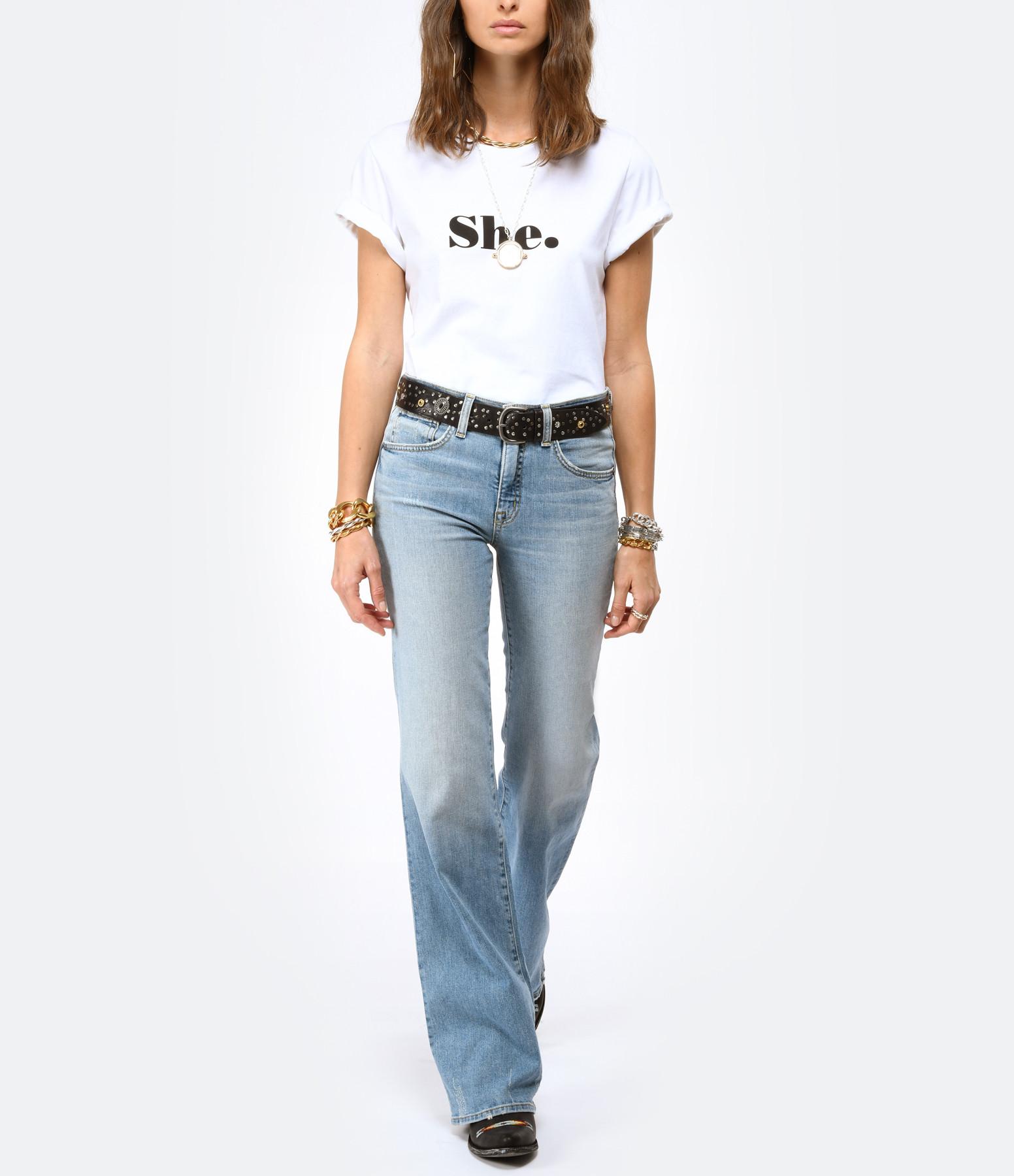 JEANNE VOULAND - Tee-shirt Fabio Elle et Lui Coton Biologique Blanc