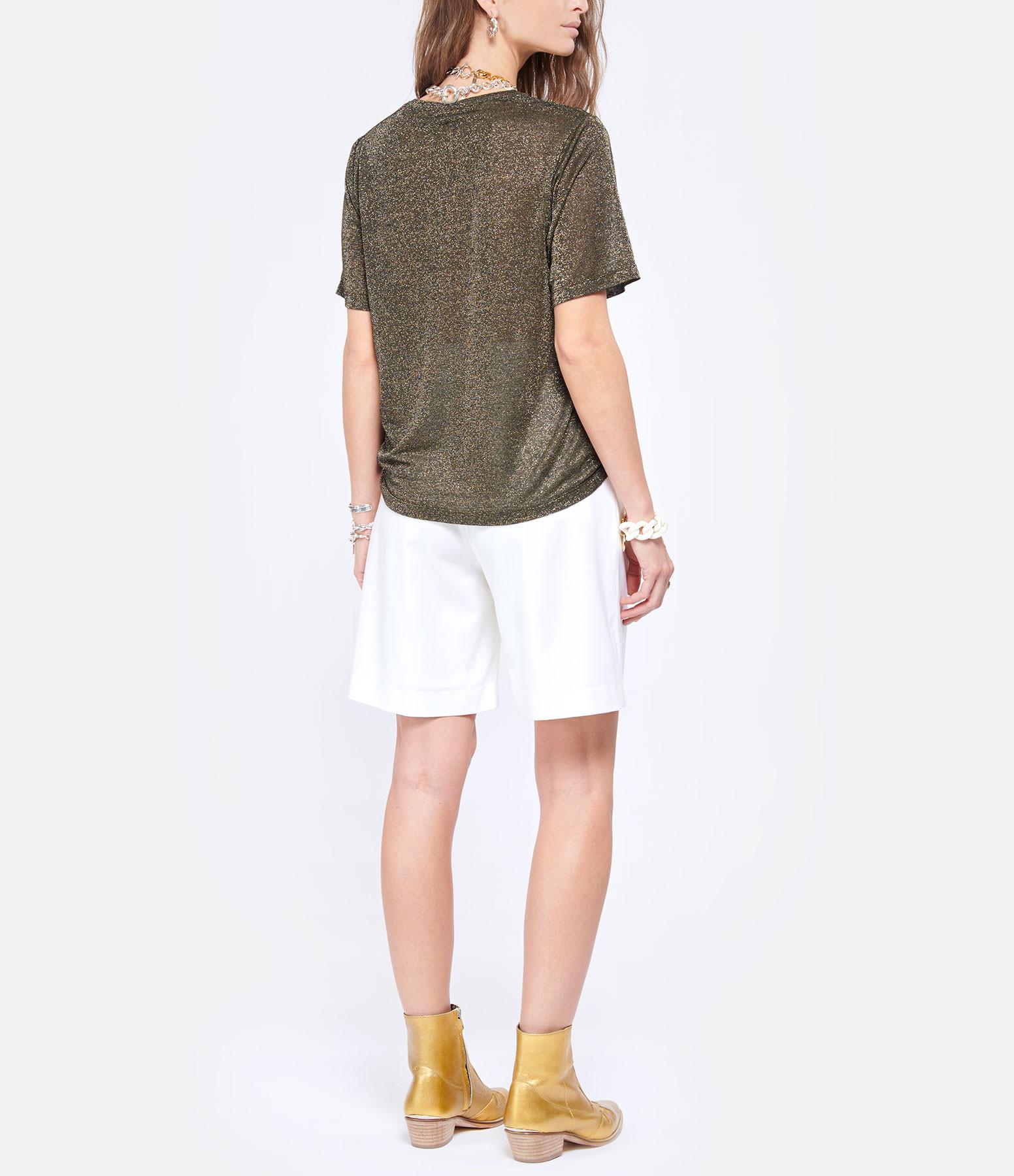 JEANNE VOULAND - Tee-shirt Fritz V Lurex Doré