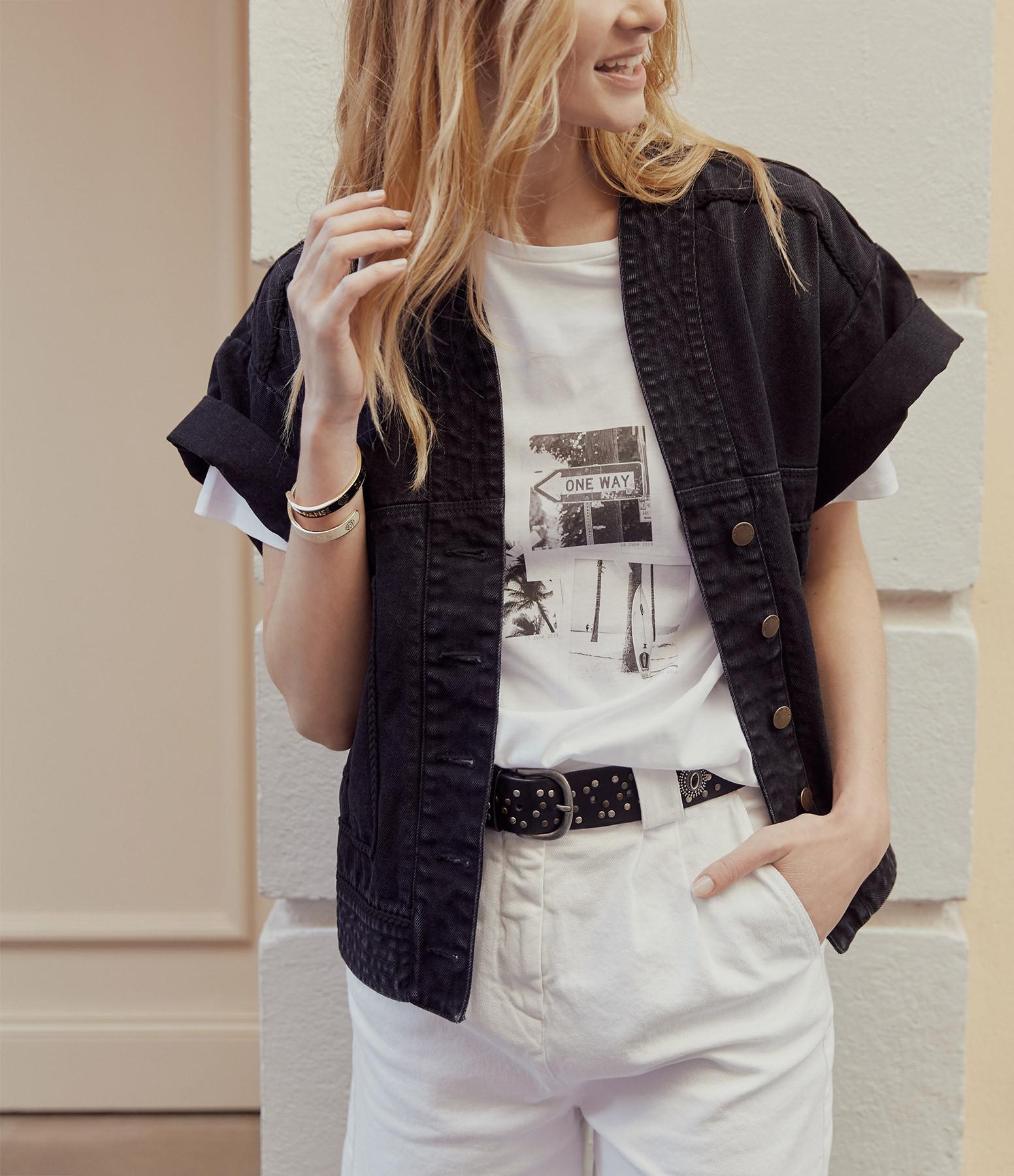 JEANNE VOULAND - Tee-shirt Ferly Polaroïds Monochrome Blanc