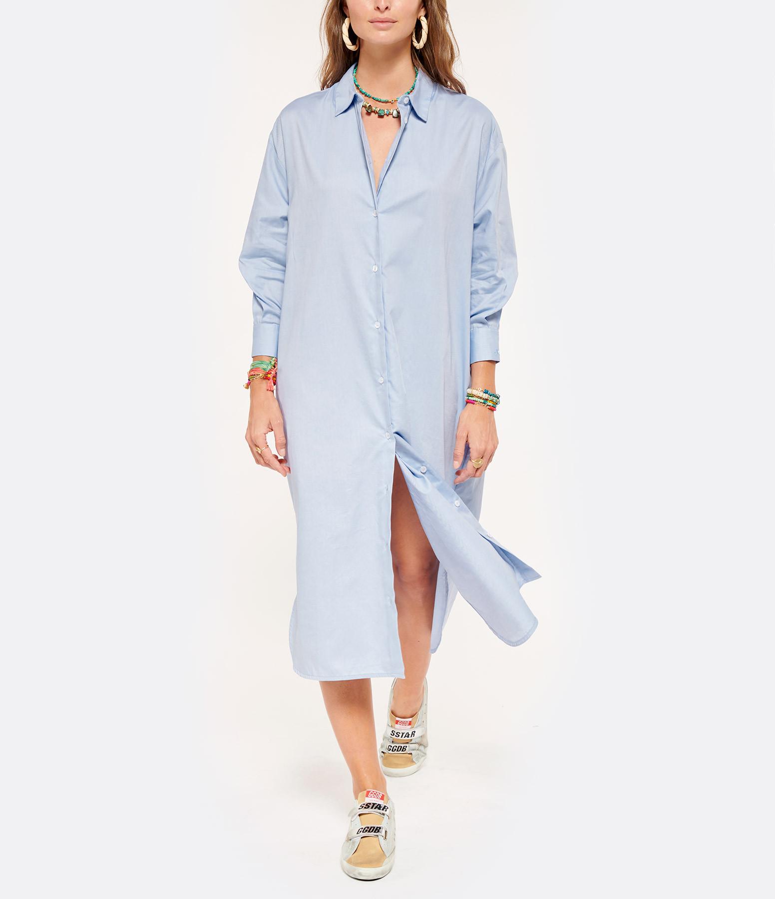 JEANNE VOULAND - Robe Chemise Faily Bleu Clair