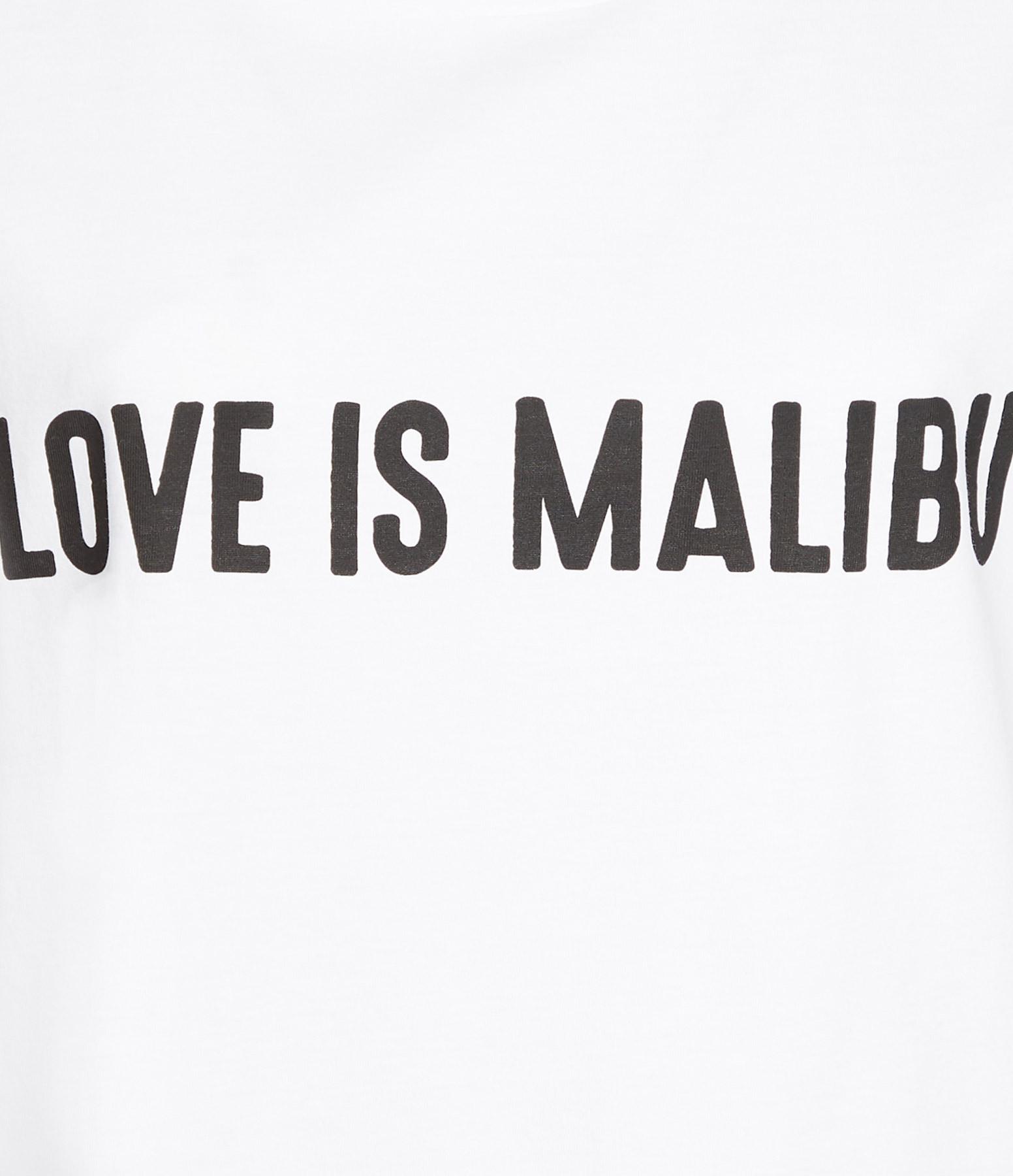 JEANNE VOULAND - Tee-Shirt Devy Love Is Malibu Blanc