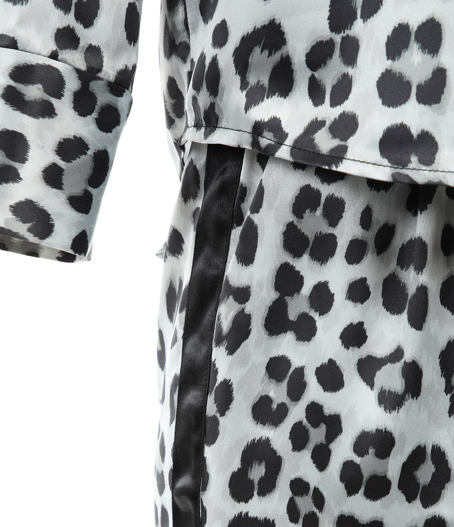 JEANNE VOULAND - Ensemble Pijama Coska Léopard Polaire Noir Blanc