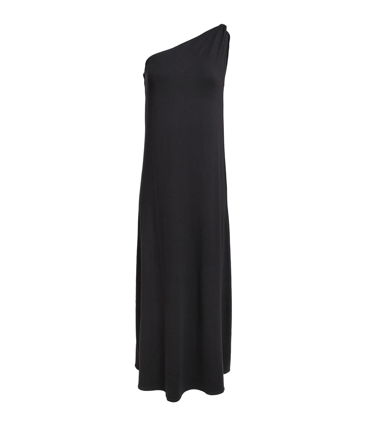 JEANNE VOULAND - Robe Delie One Shoulder Drappée Noir