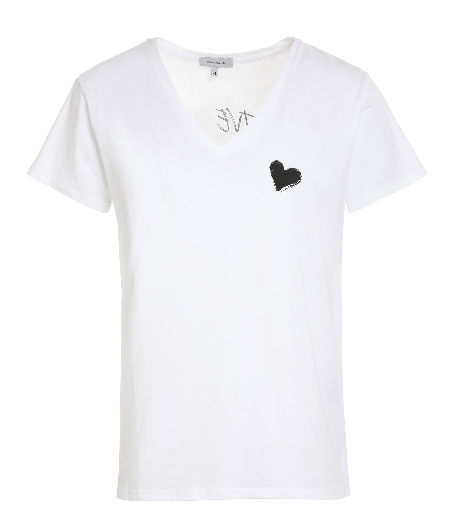 JEANNE VOULAND - Tee-shirt Ery Give Yourself Love Coton Blanc