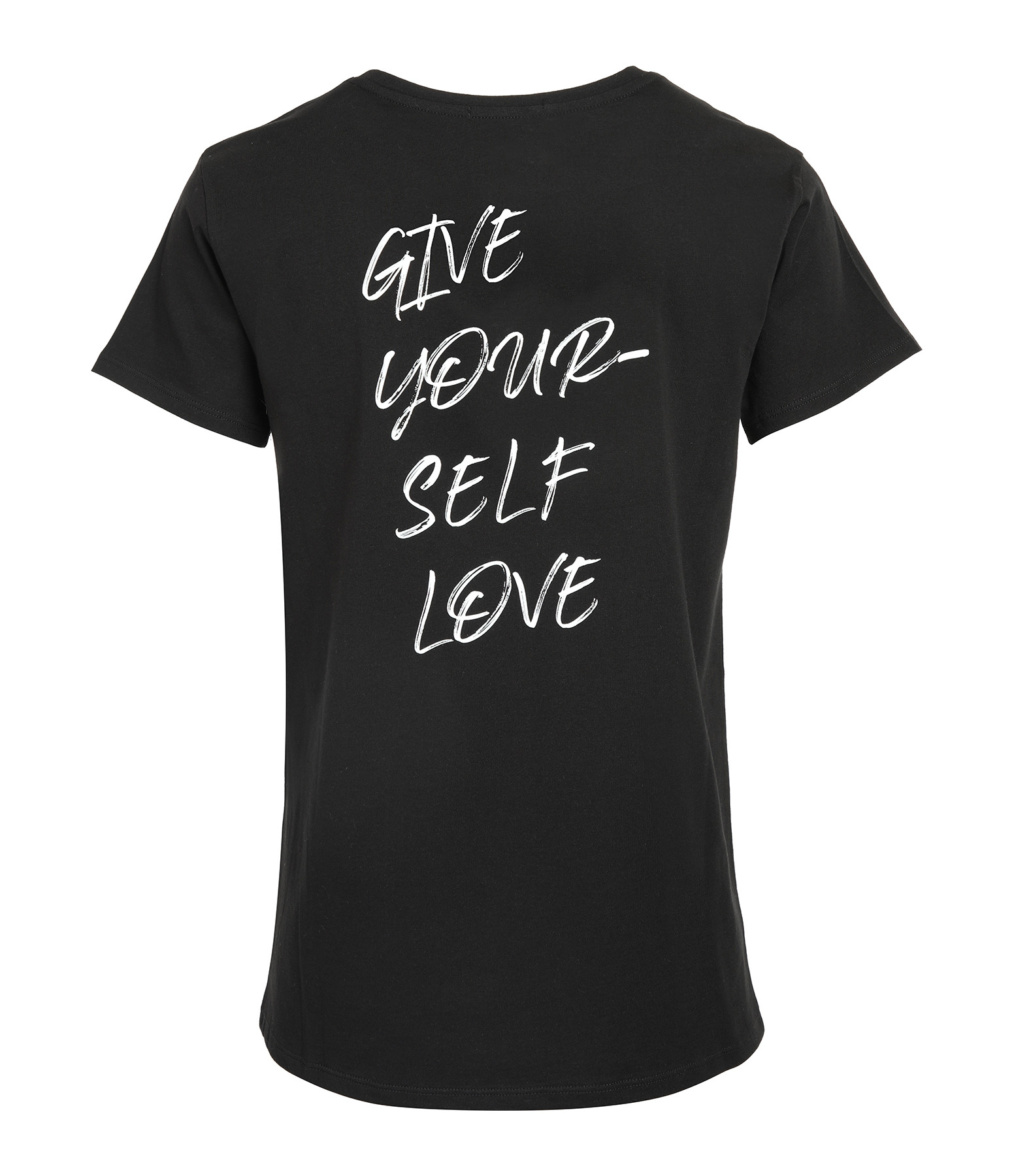 JEANNE VOULAND - Tee-shirt Ery Give Yourself Love Coton Noir