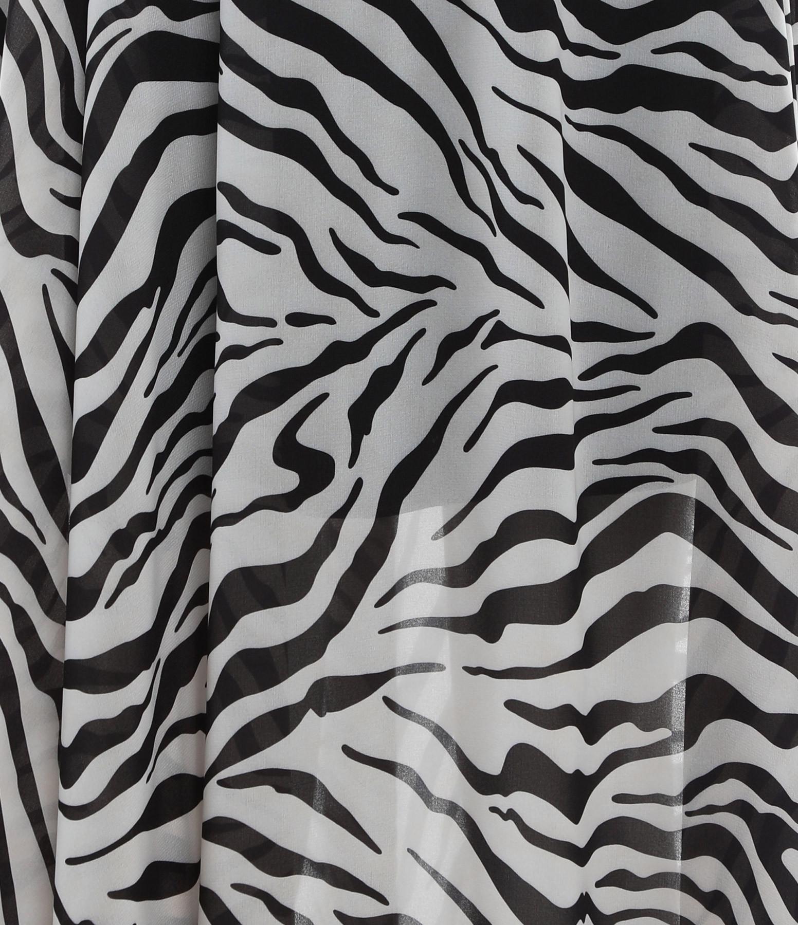 JEANNE VOULAND - Jupe Elone Voile Zèbre Noir Blanc