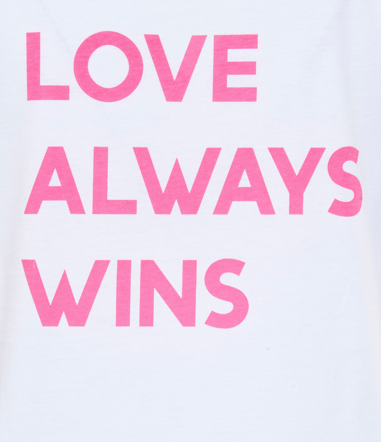 JEANNE VOULAND - Tee-shirt Ela Love Always Wins Coton Blanc Rose
