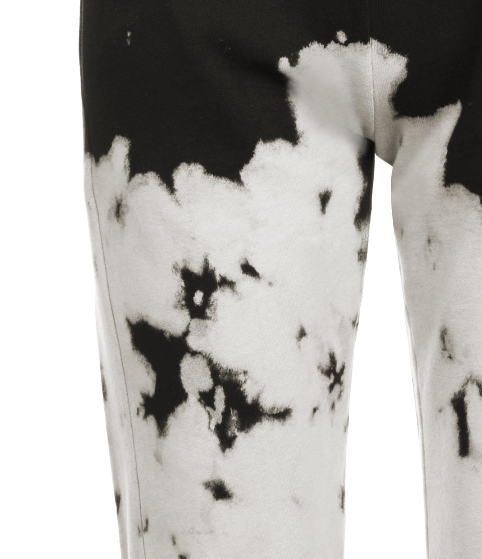 JEANNE VOULAND - Jogging Fallon Coton Tie and Dye Noir Blanc