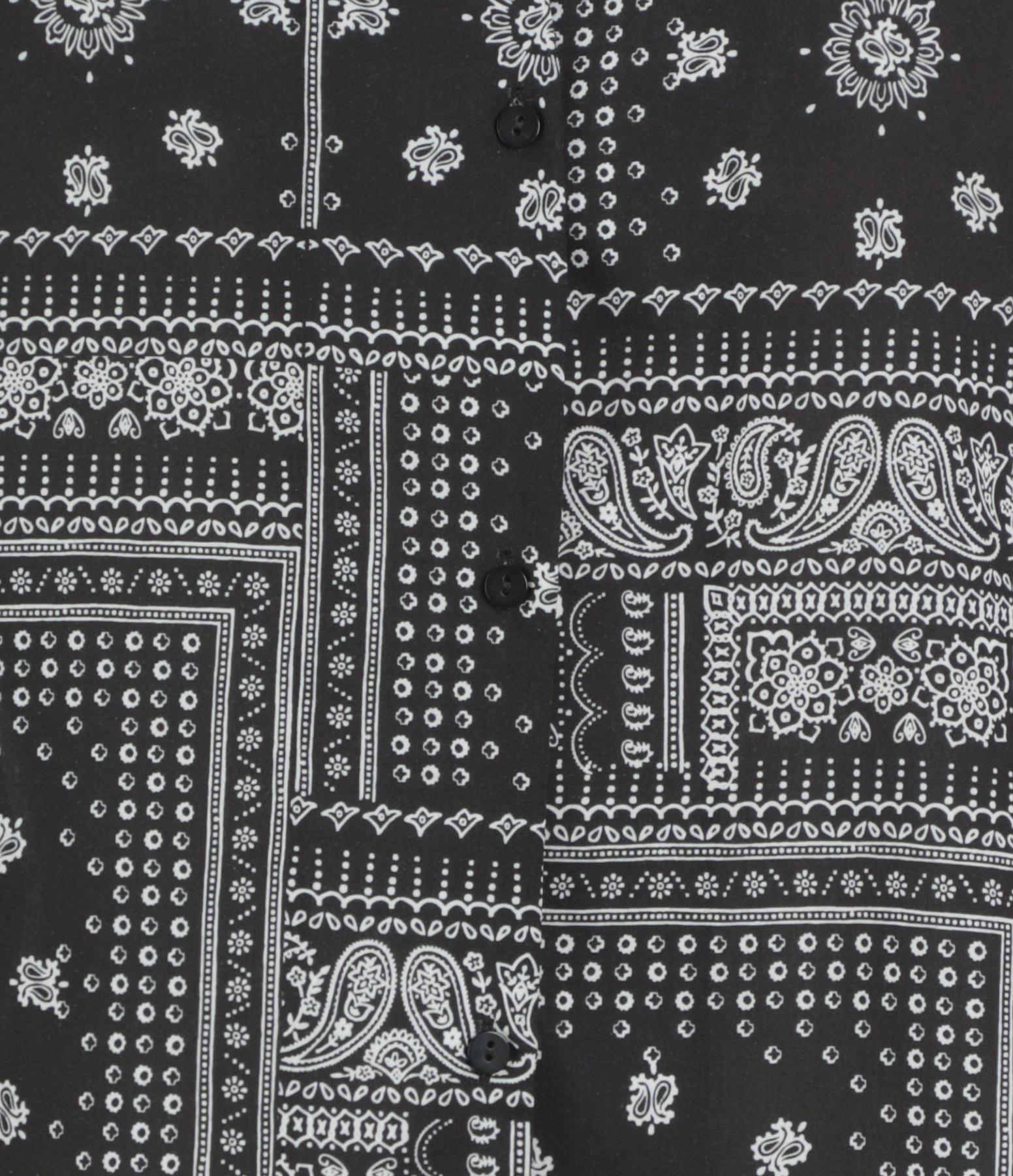 JEANNE VOULAND - Chemise Malacca Oversize Bandana Noir Blanc
