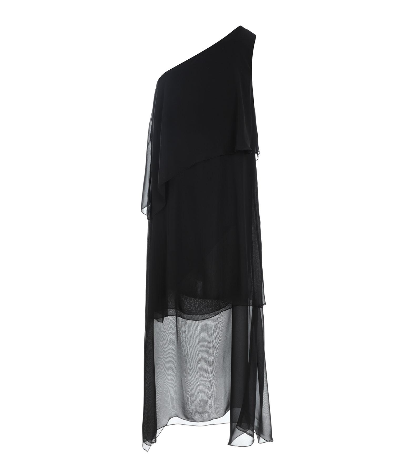 JEANNE VOULAND - Robe Fettya One Shoulder Volants Noir